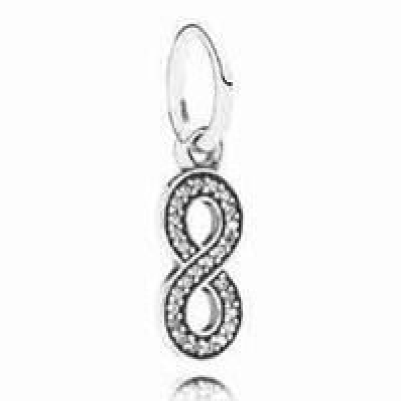 Pandora Damen-Charm Unendlichkeit 925 Silber Zirkonia weiß - 791351CZ