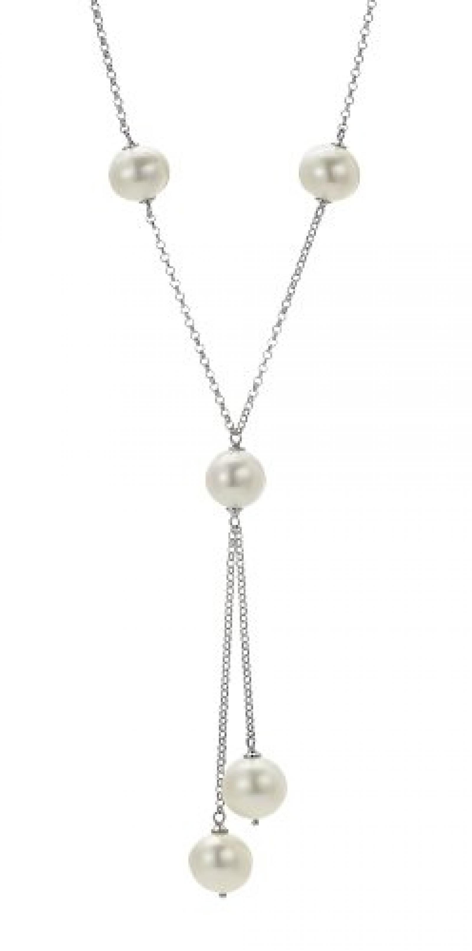 Adriana Damen-Halskette ohne Anhänger Süßwasser Zuchtperlen 925 Sterling Silber A5