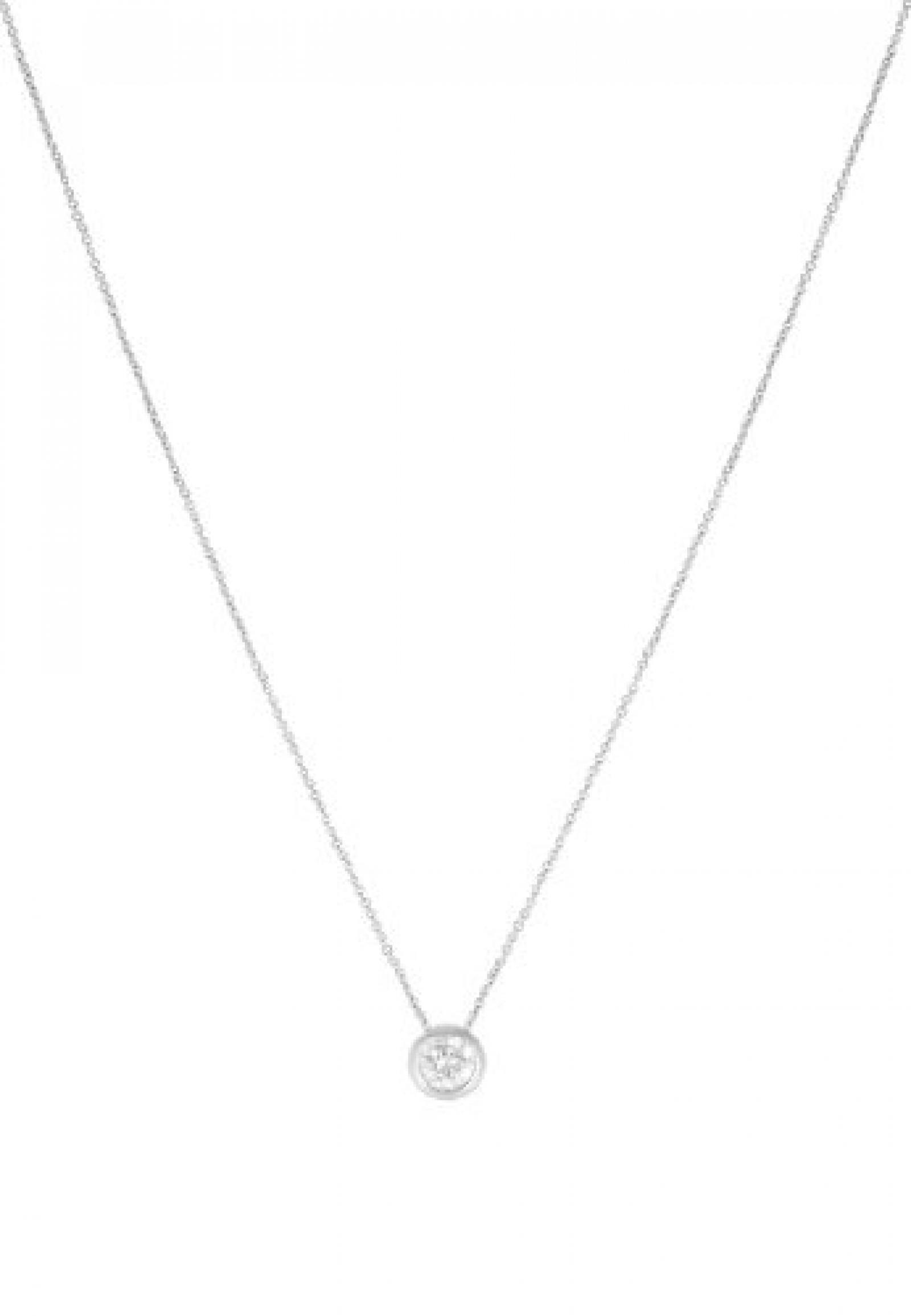 JETTE Silver Damen-Kette BASIC 925er Silber 1 Zirkonia silber, One Size