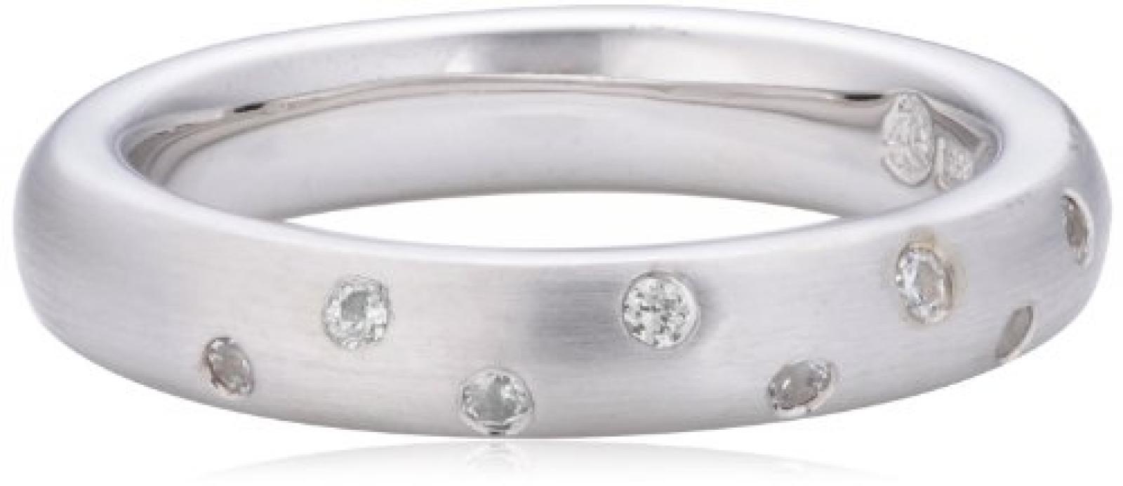 Viventy Damen-Ring 925 Sterling Silber 9 Zirkonia Weiß 765001