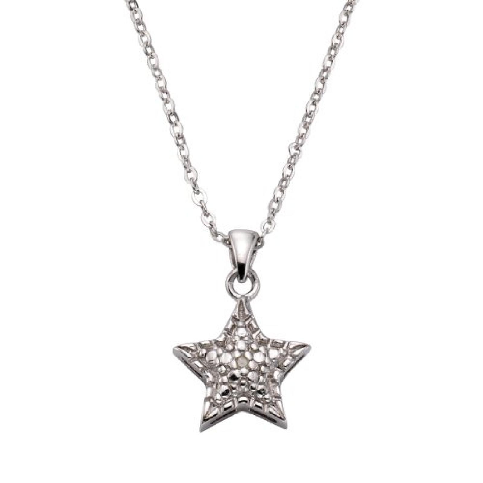 Celesta Damen-Halskette 925 Sterling Silber 45cm Zwischense 42cm 1x Diamnat 0,01ct. 500244609