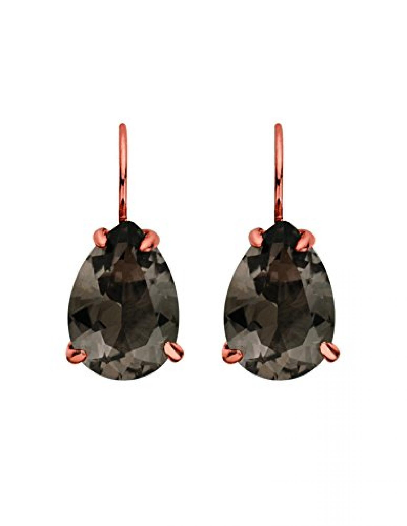 Dyrberg/Kern Damen-Ohrhänger Vergoldetes Metall Kristall braun 335325