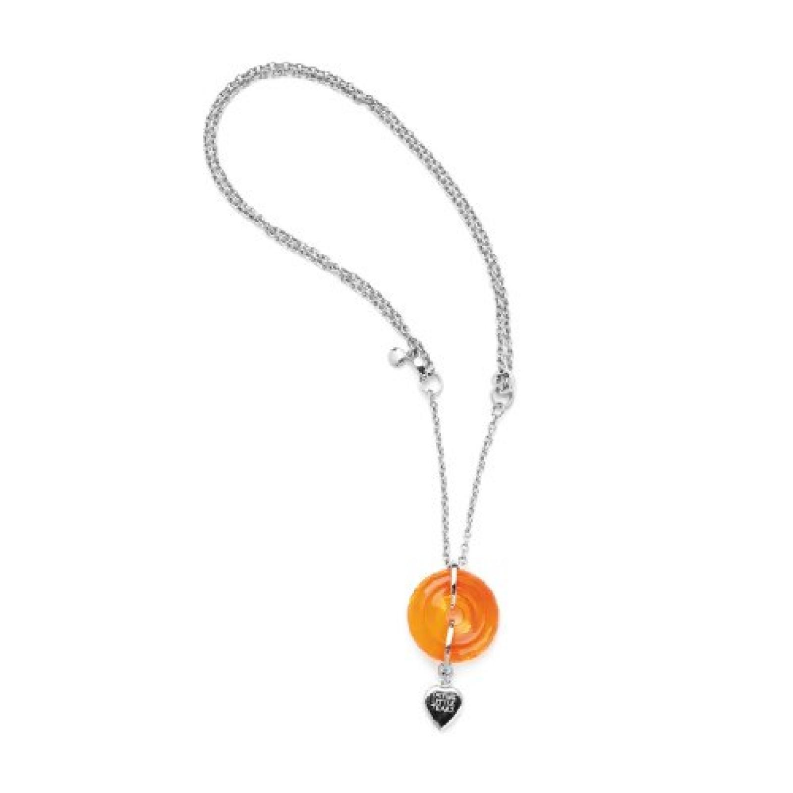 Leonardo Jewels Damenkette Edelstahl + Glas 90cm Roling 011739