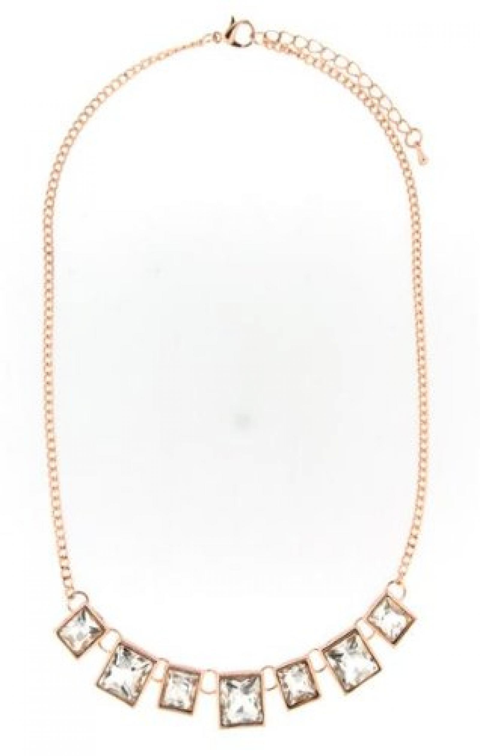 Sweet Deluxe Damen-Halskette Messing sweet deluxe Damen Kette Susana rose gold/crystal 02801 2801
