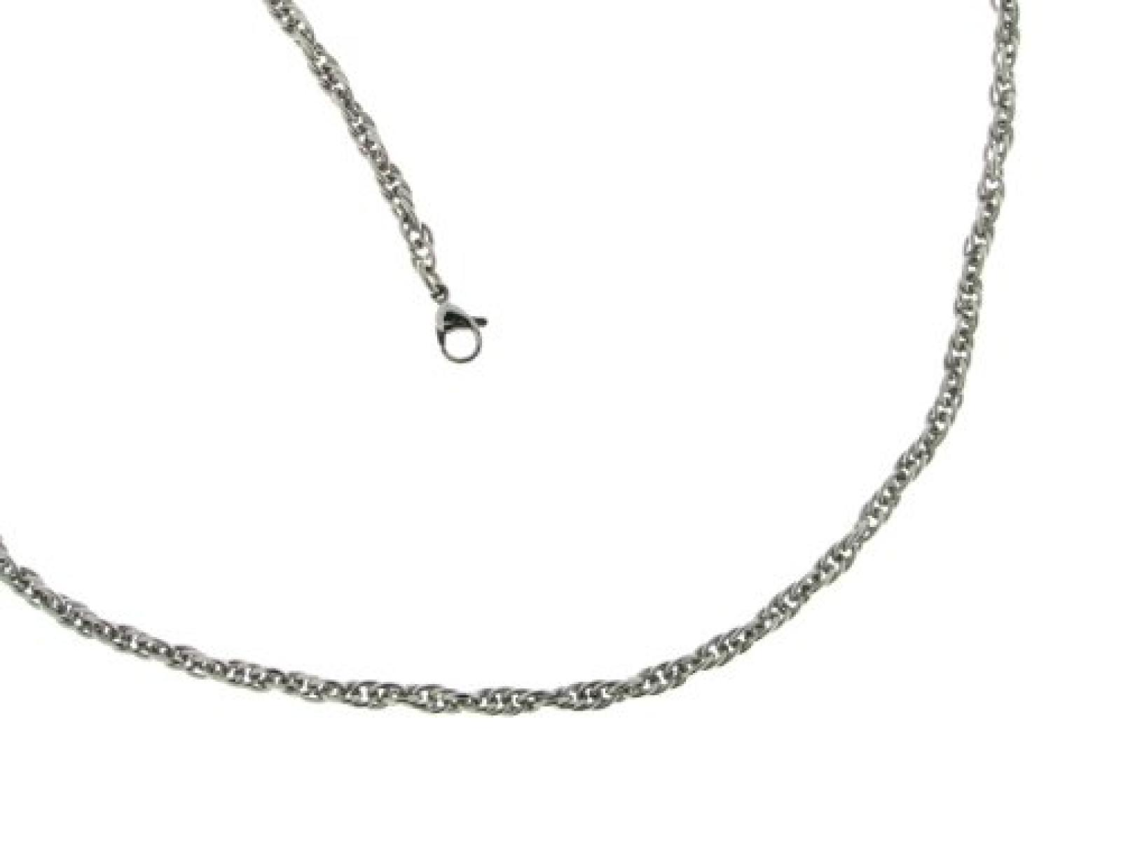 BOB C. Unisex-Halskette ohne Anhänger Metall Doppelankergliederung 4,0 mm 301538