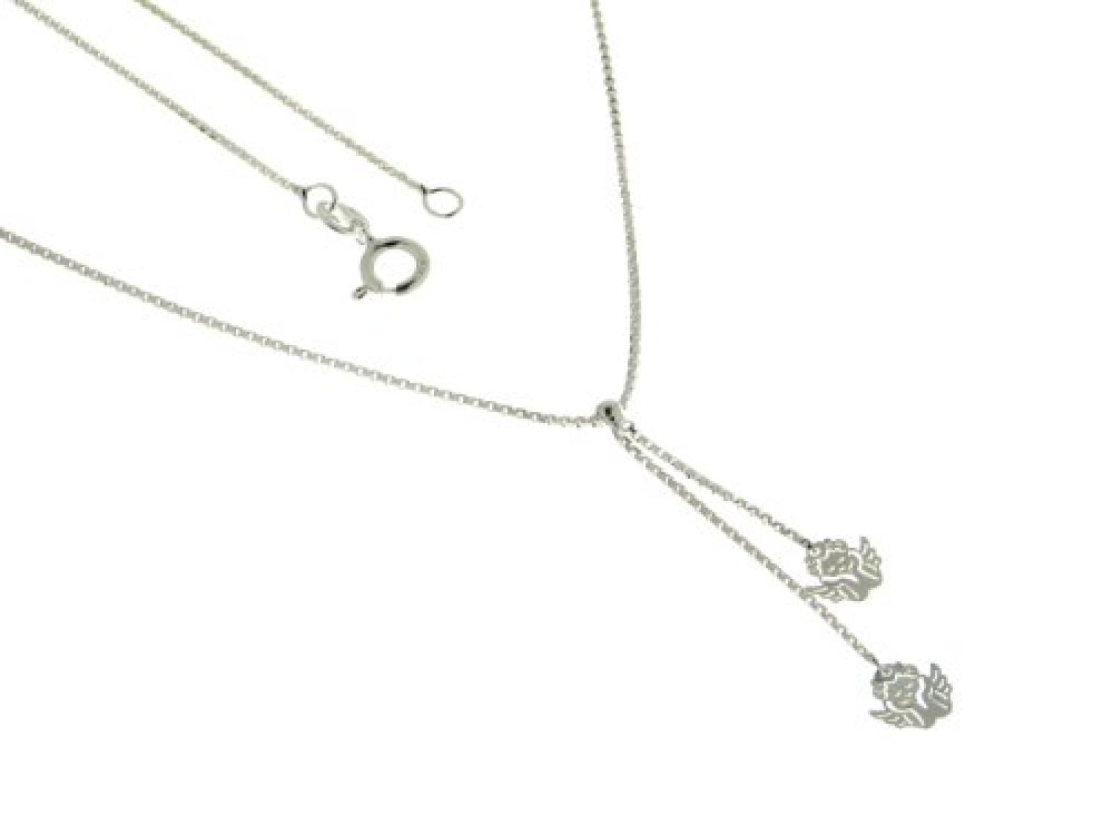 Kettenworld Damen Halskette 925 Sterling Silber 38 cm 294478