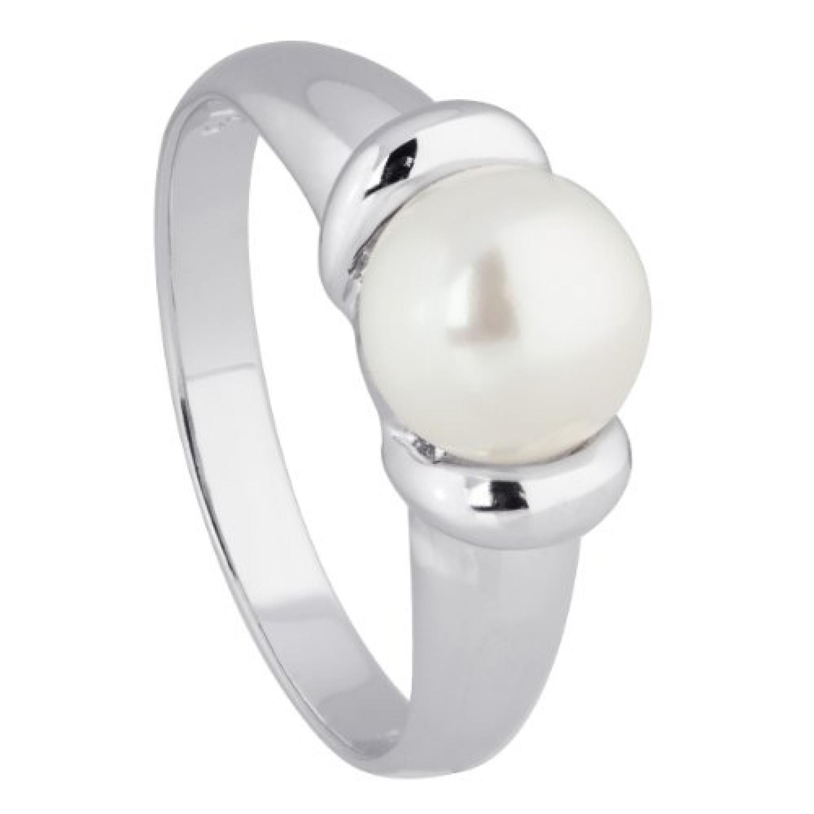 Bella Donna Damen-Ring 925 Sterlingsilber 1 Süßwasser-Zuchtperle