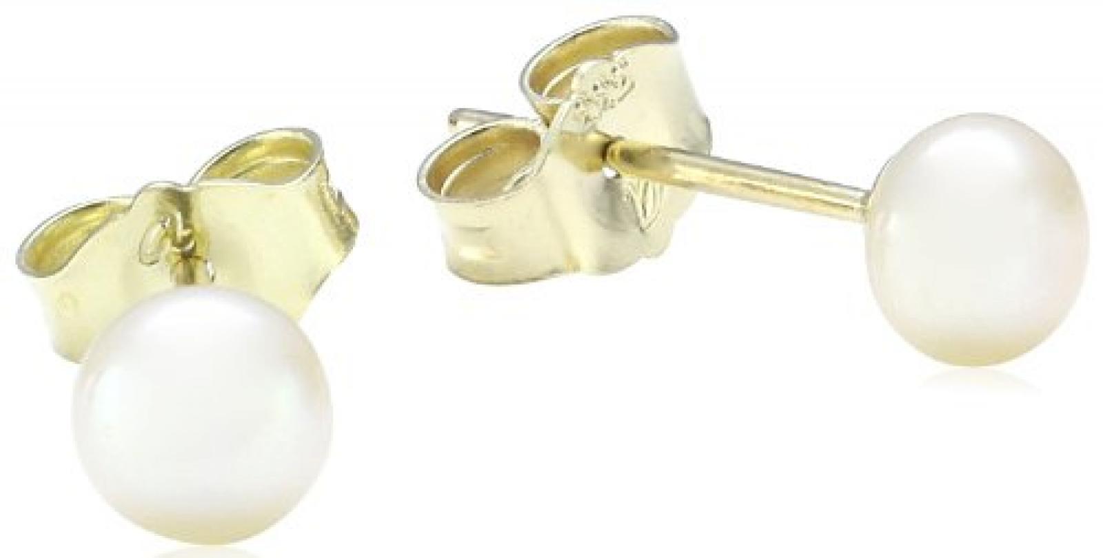 Amor Jewelry Damen-Ohrstecker 8 Karat 333 Gelbgold 84307