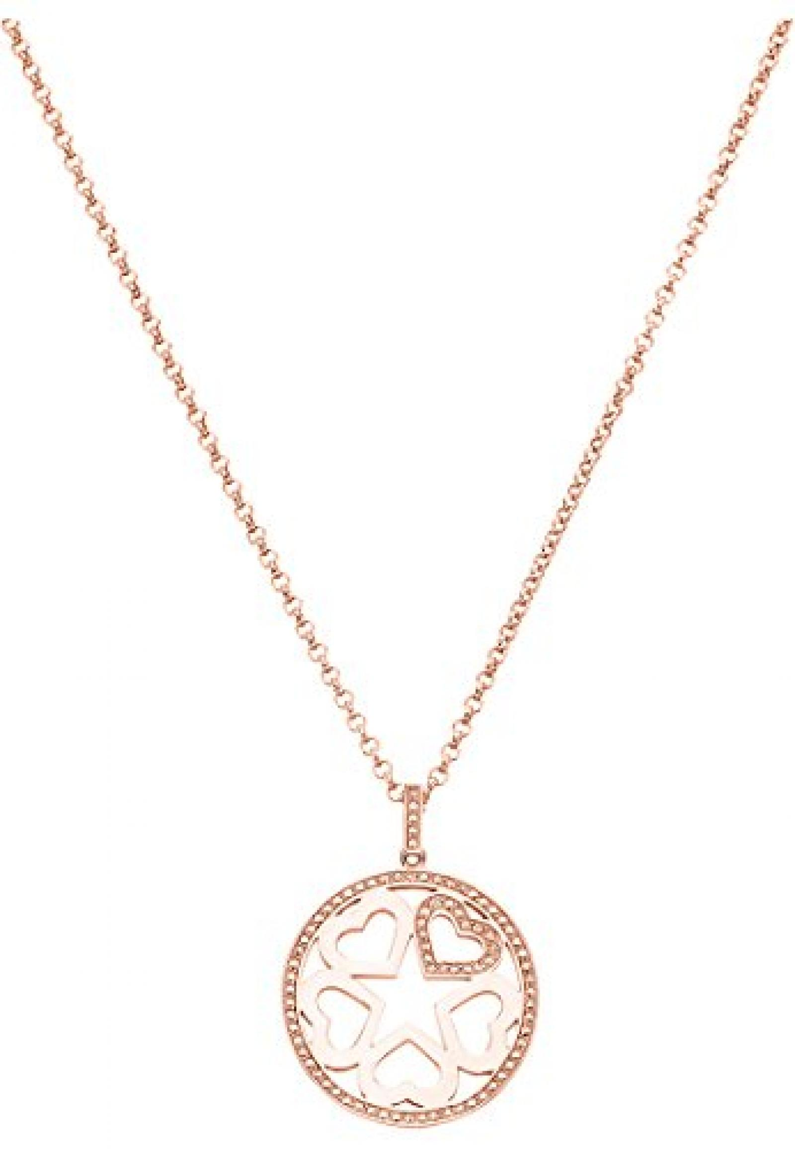 JETTE Magic Passion Damen-Collier JETTE Magic Love Tag Metall 81 Kristall roségold, One Size