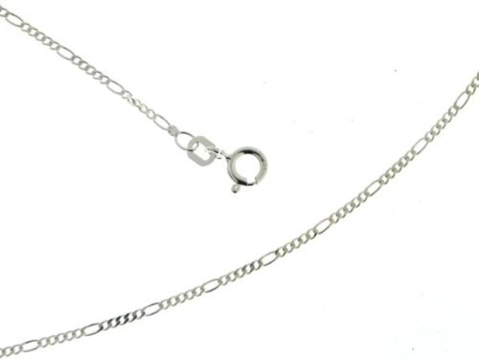 BOB C. Damen-Halskette ohne Anhänger Figaro 925 Sterling Silber 327030