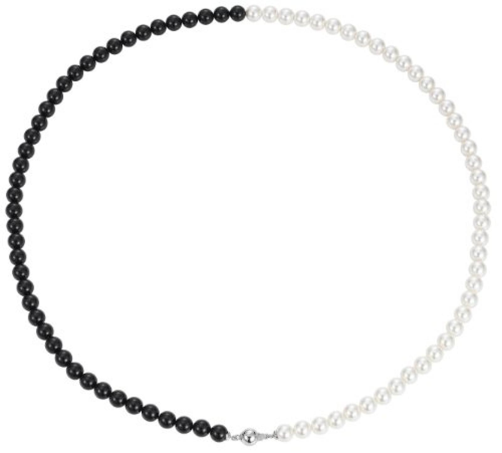 Pierre Cardin Damen-Halsband 925 Sterling Silber rhodiniert Perlmutt Perlmutt Liens de perles weiß PCNL90442D700