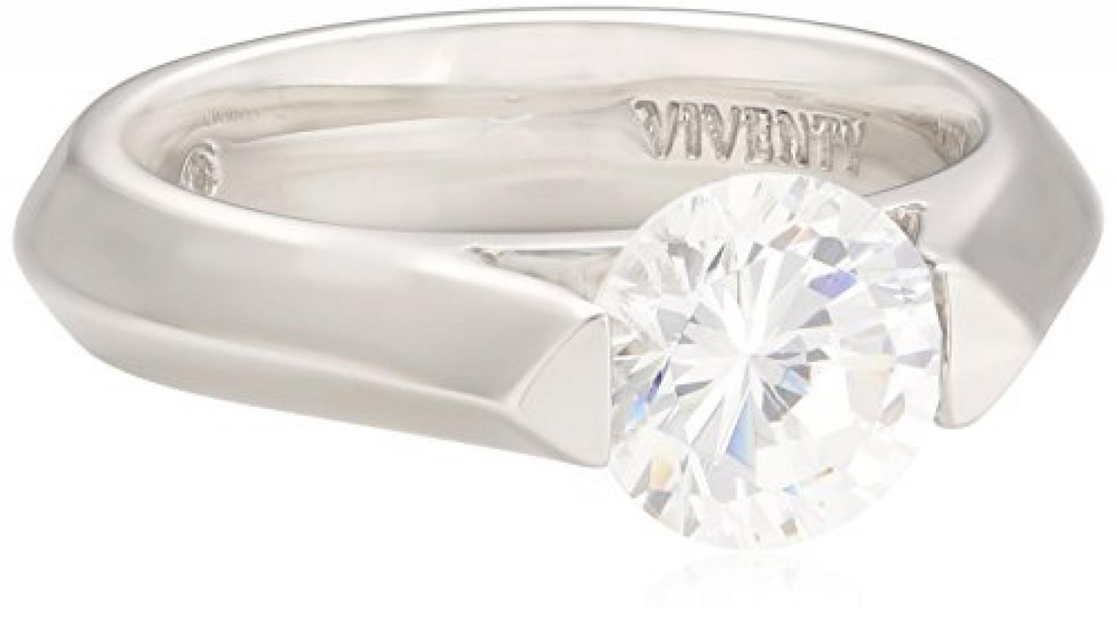 Viventy Damen-Ring 925/-Sterling Silber 1 Zirkonia 691541