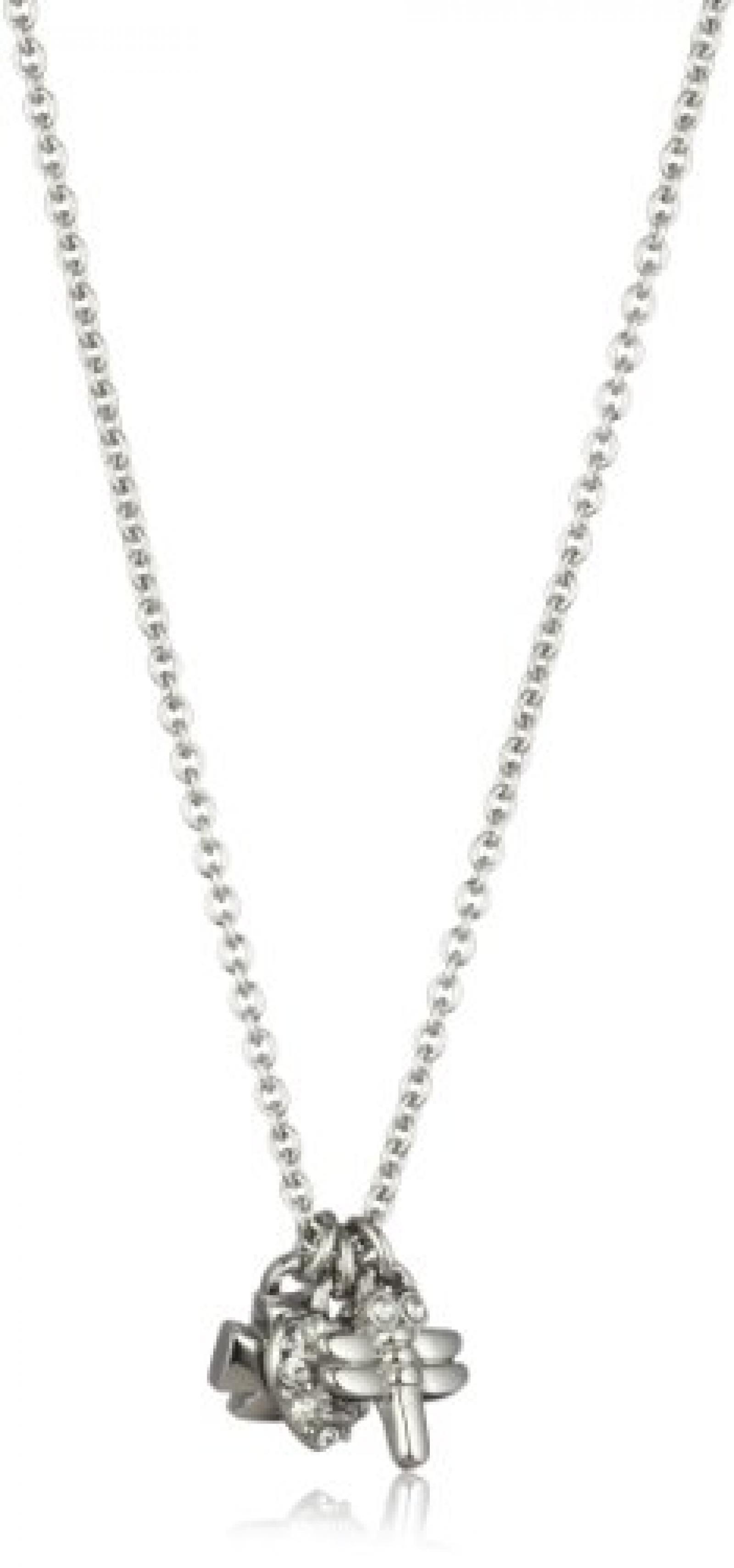Dyrberg/ Kern Damen-Halskette Pohndalos Ss/Crystal 45cm 331976