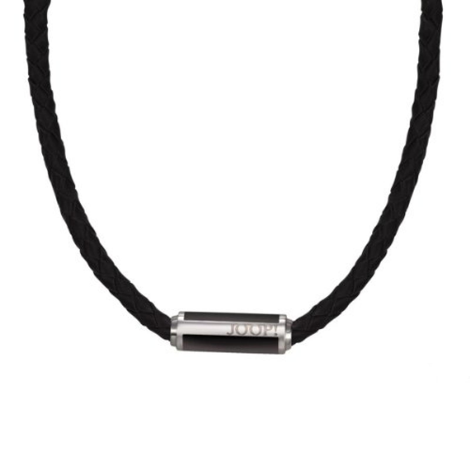 Joop Herren-Halskette Sharp Epoxy schwarz Leder Edelstahl ca. 50 cm JPNL10555A500