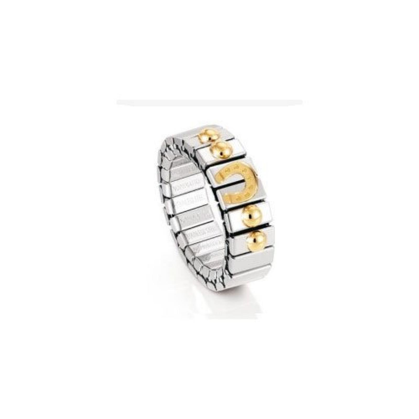 Nomination Damen-Ring /A Klein Mit 1 Symbol Hufeisen Ring größe variabel 040003/017