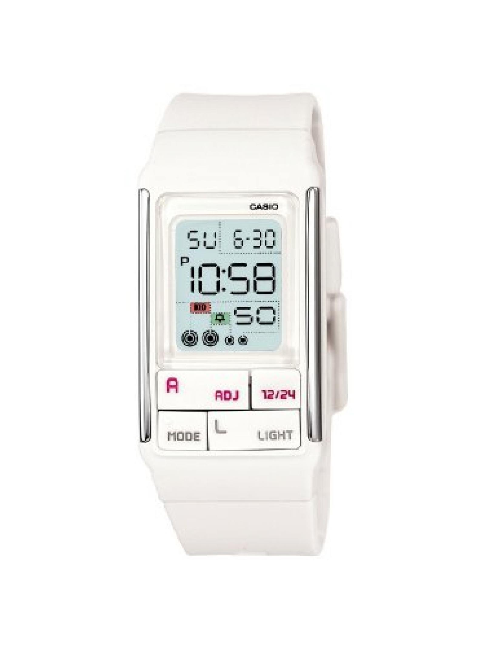 Casio Damen-Armbanduhr Digital Kunststoff weiß LDF-52-7AEF