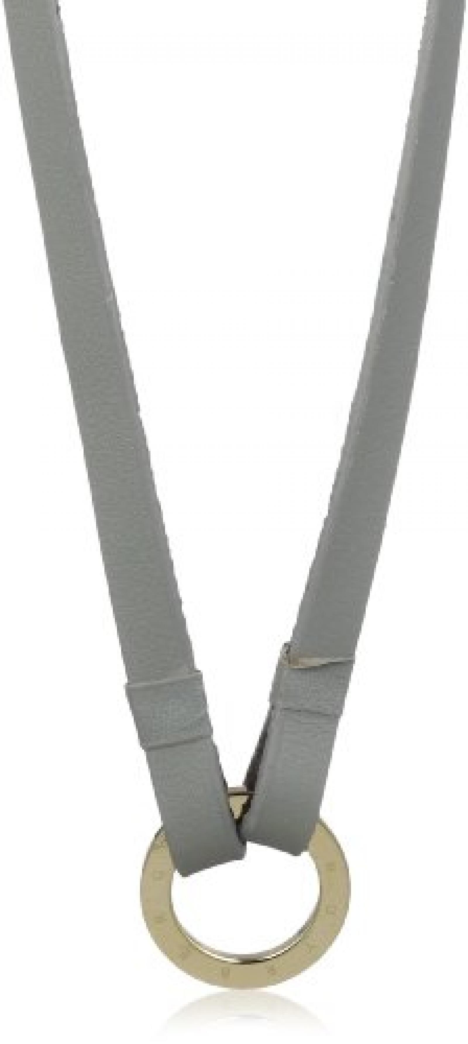Dyrberg/Kern Damen-Lederhalskette GIMME SG GREY 80cm 332354