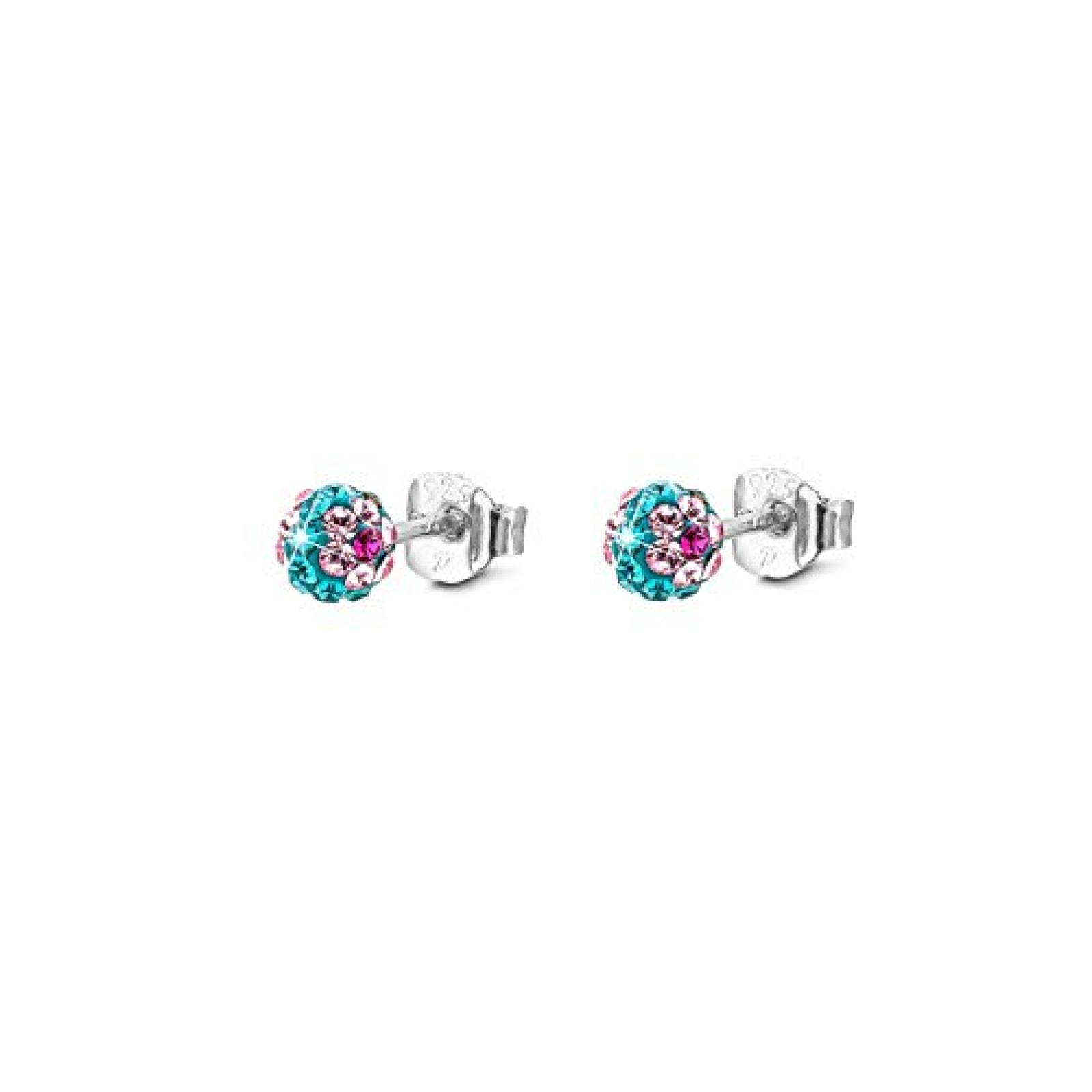 s.Oliver Kinder-Ohrstecker Swarovski 925 Silber rhodiniert rosa Kristall - 487245