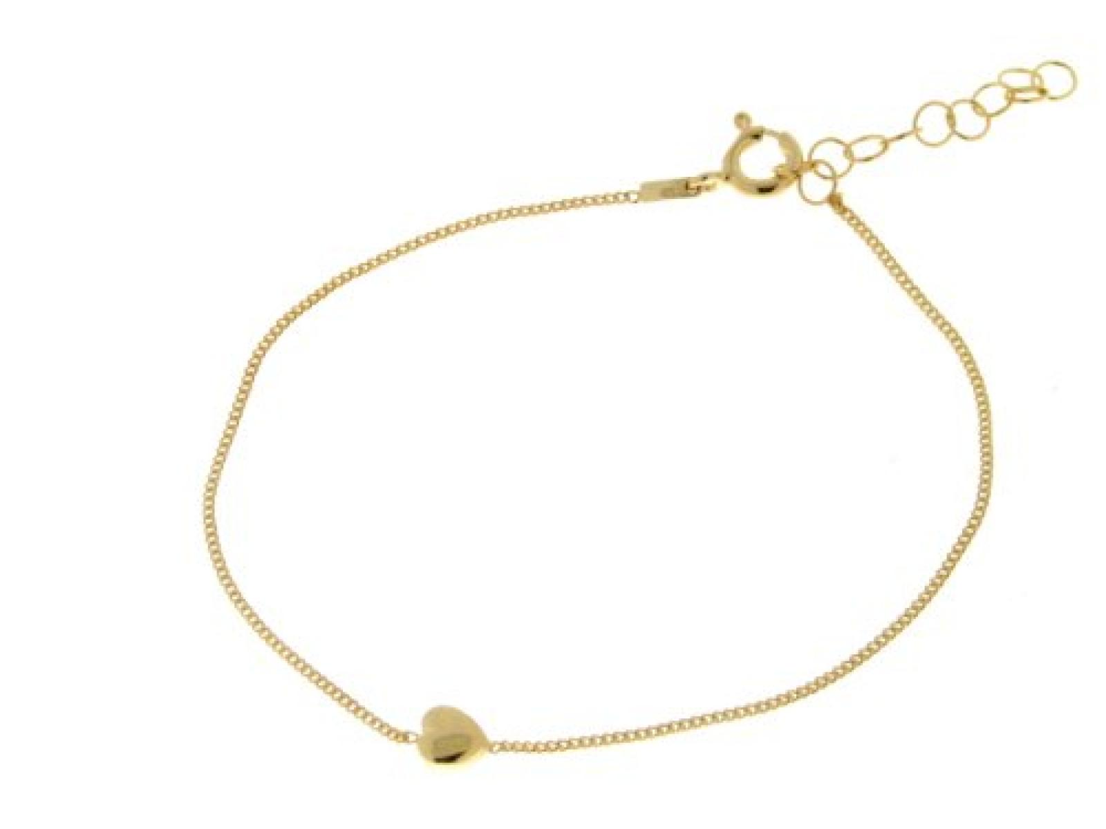 BOB C. Damen Armband 925 Sterling Silber Herz 20.0 cm 332285