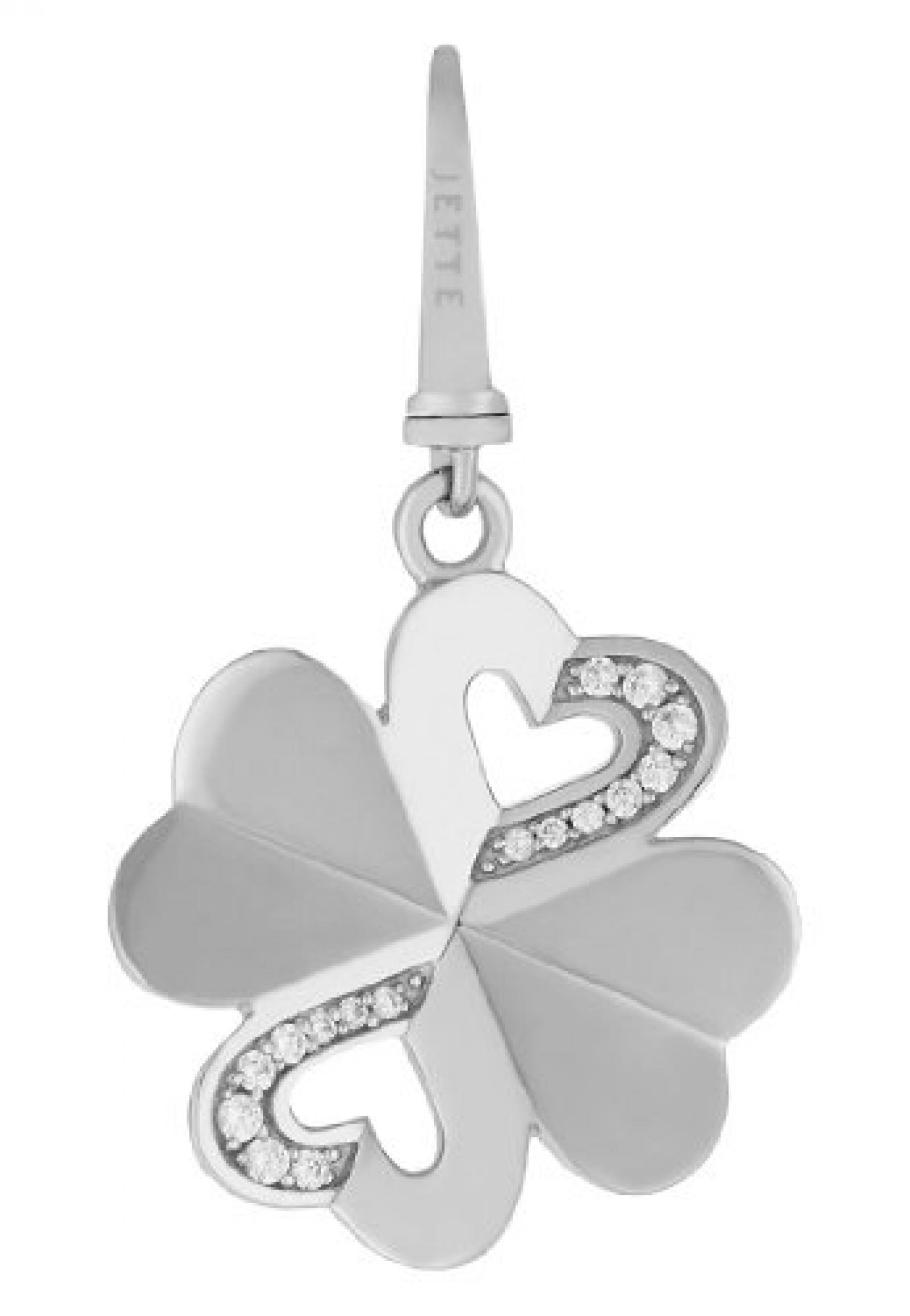 JETTE Charms Damen-Charm CHARM 925er Silber 16 Zirkonia One Size, silber