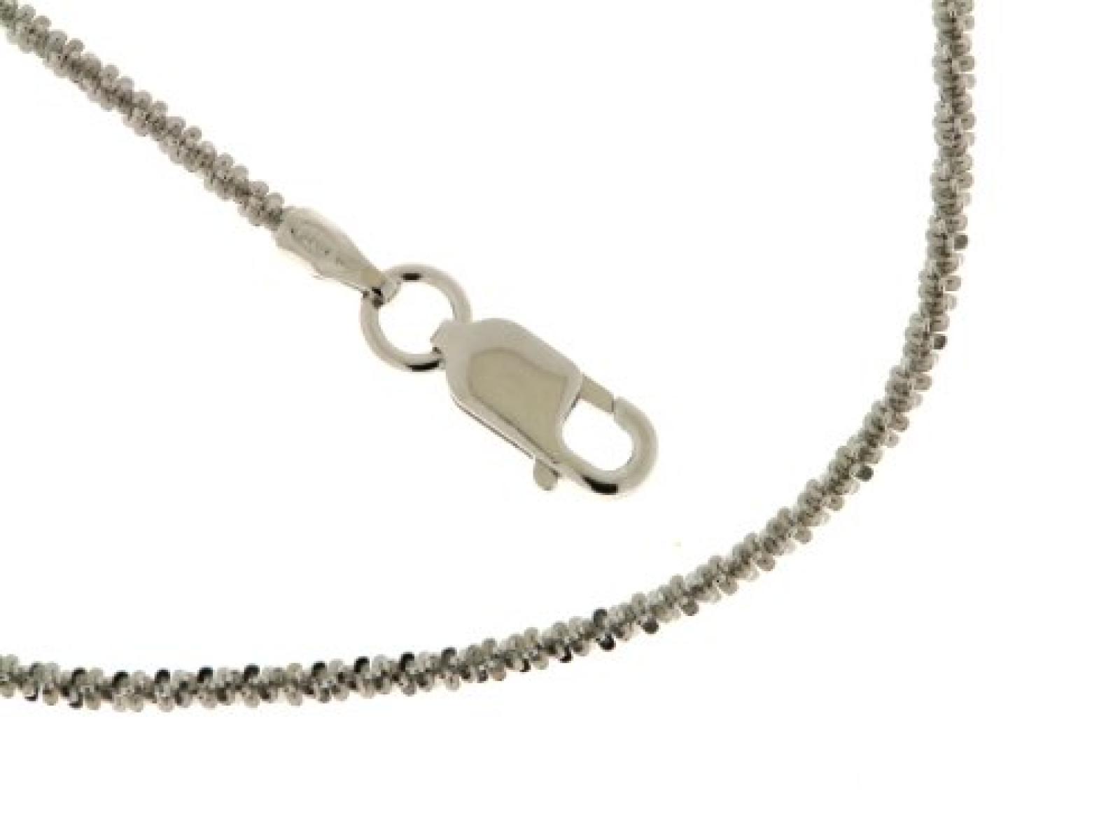 Kettenworld Damen-Halskette im Criss-Cross-Design 925 Sterling Silber 263222