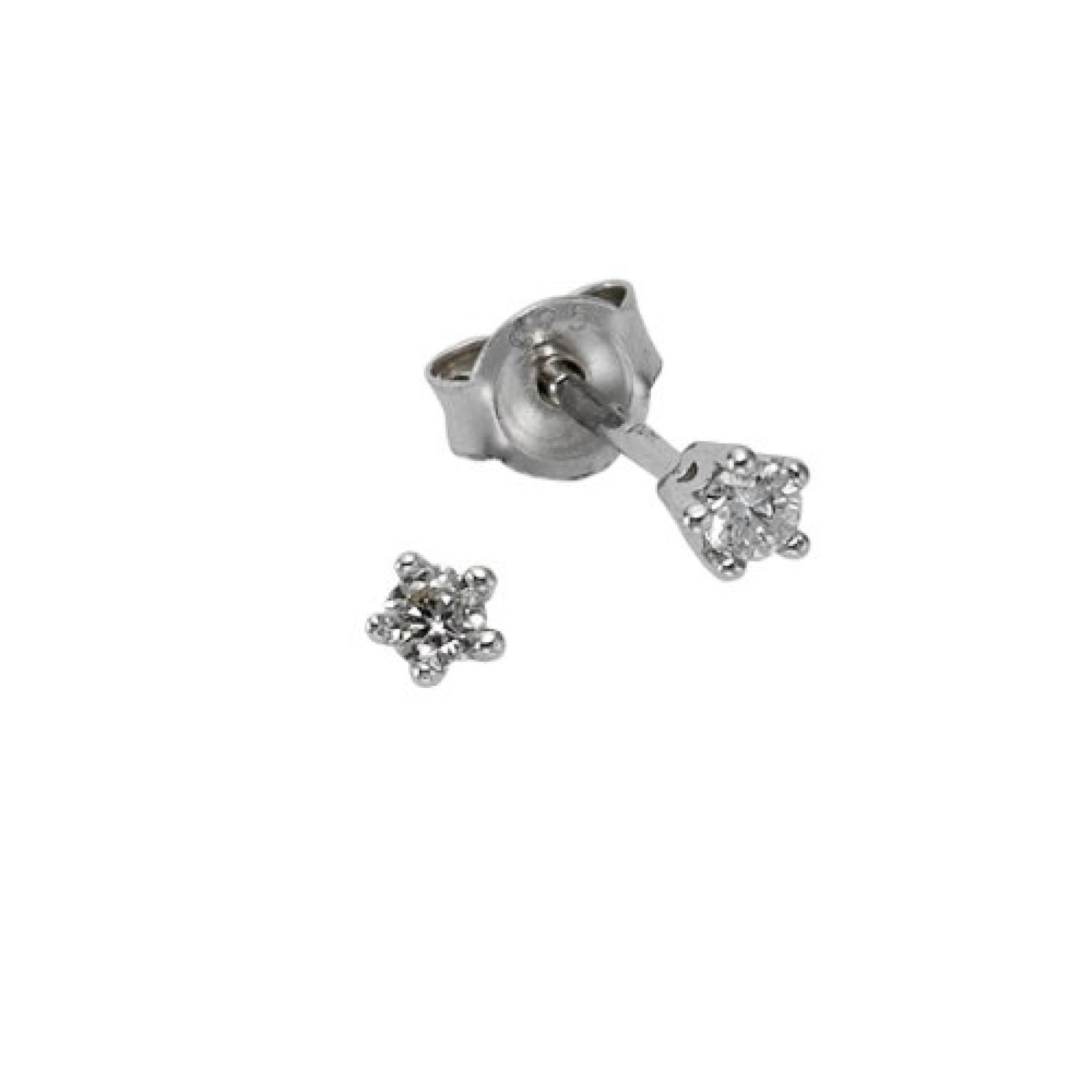 Celesta Damen-Ohrstecker 925 Sterling Silber 2 Brillanten 0,10ct. 273220554