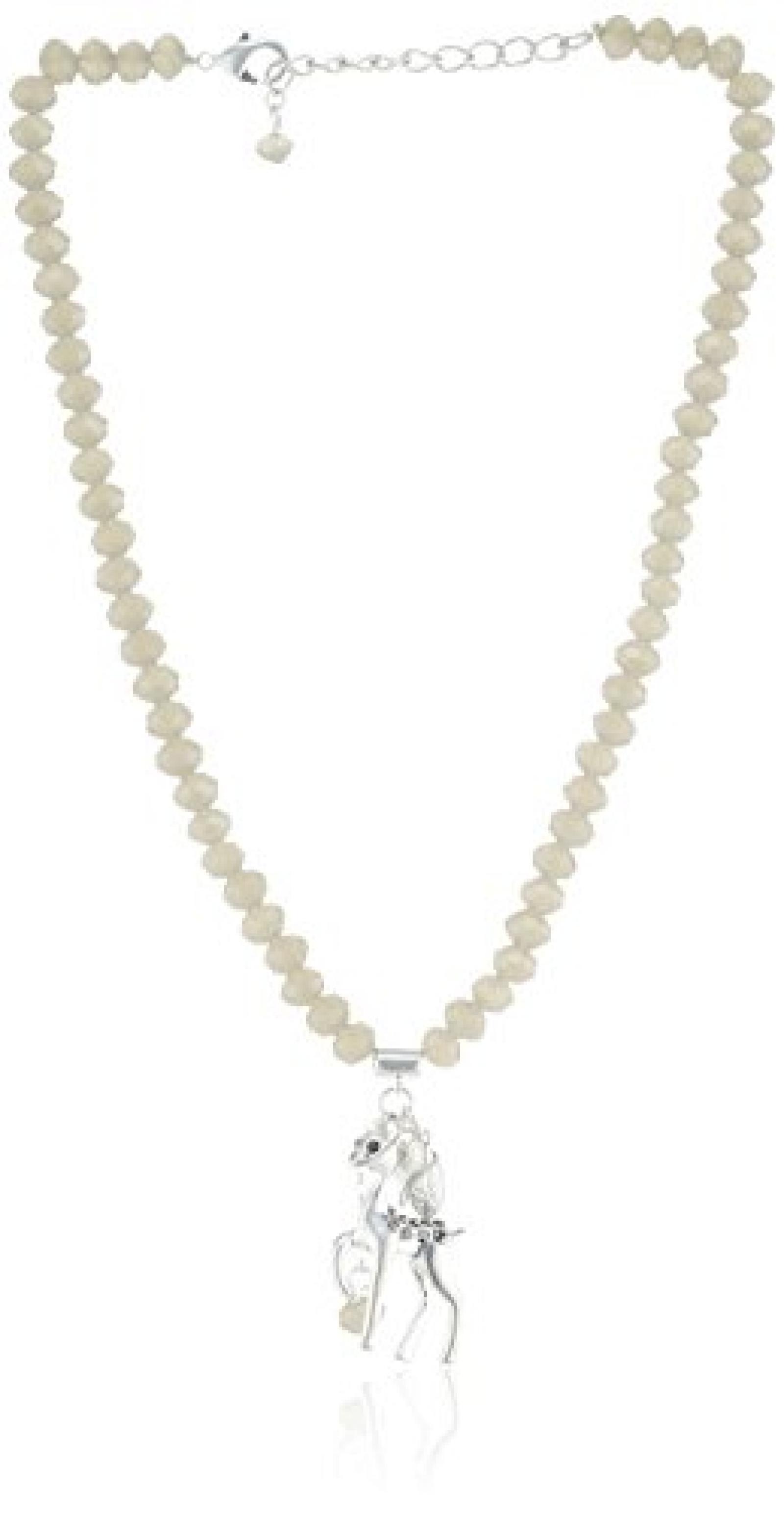Sweet Deluxe Damen-Halskette Messing silbernes Reh 2625