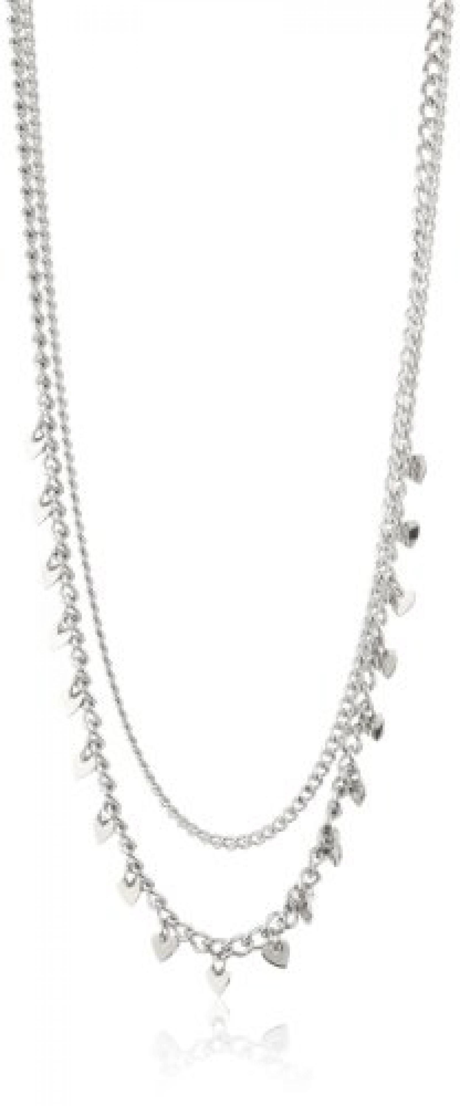 Dyrberg/Kern Damen-Halskette ohne Anhänger Dolina ss silver Edelstahl 334710