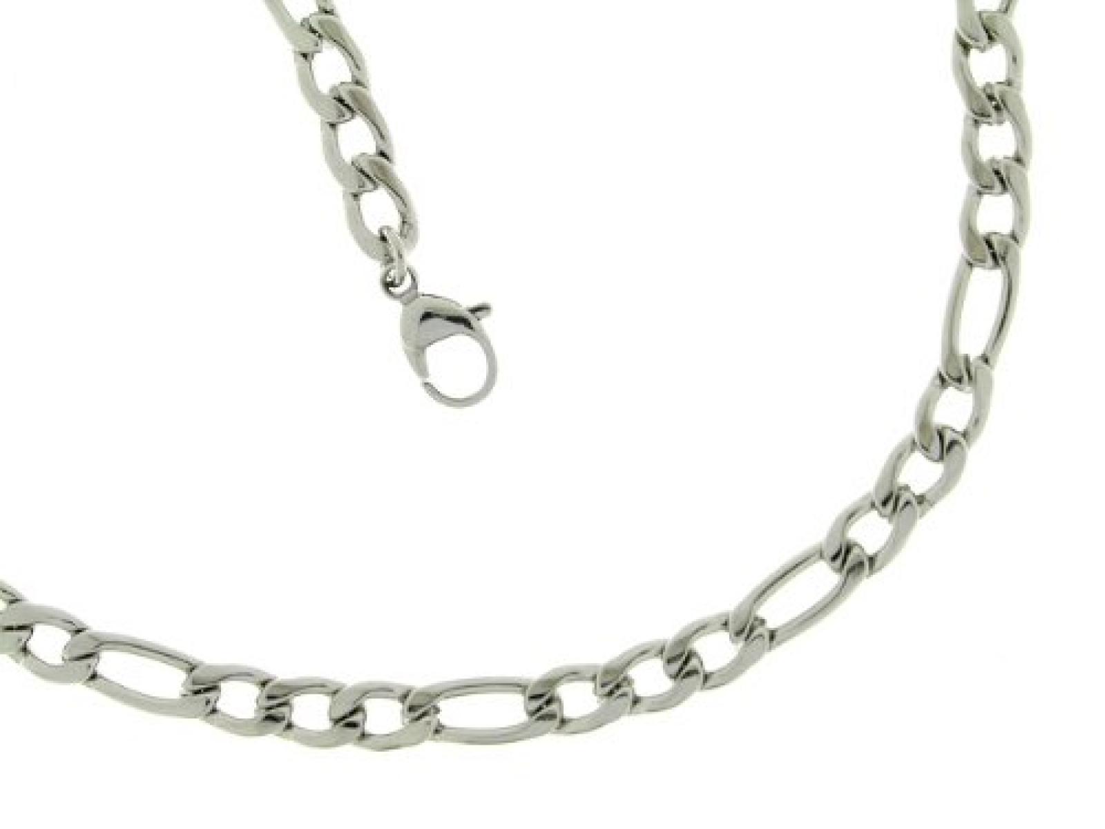 Bob C Herren-Halskette ohne Anhänger Figaro Edelstahl 327081