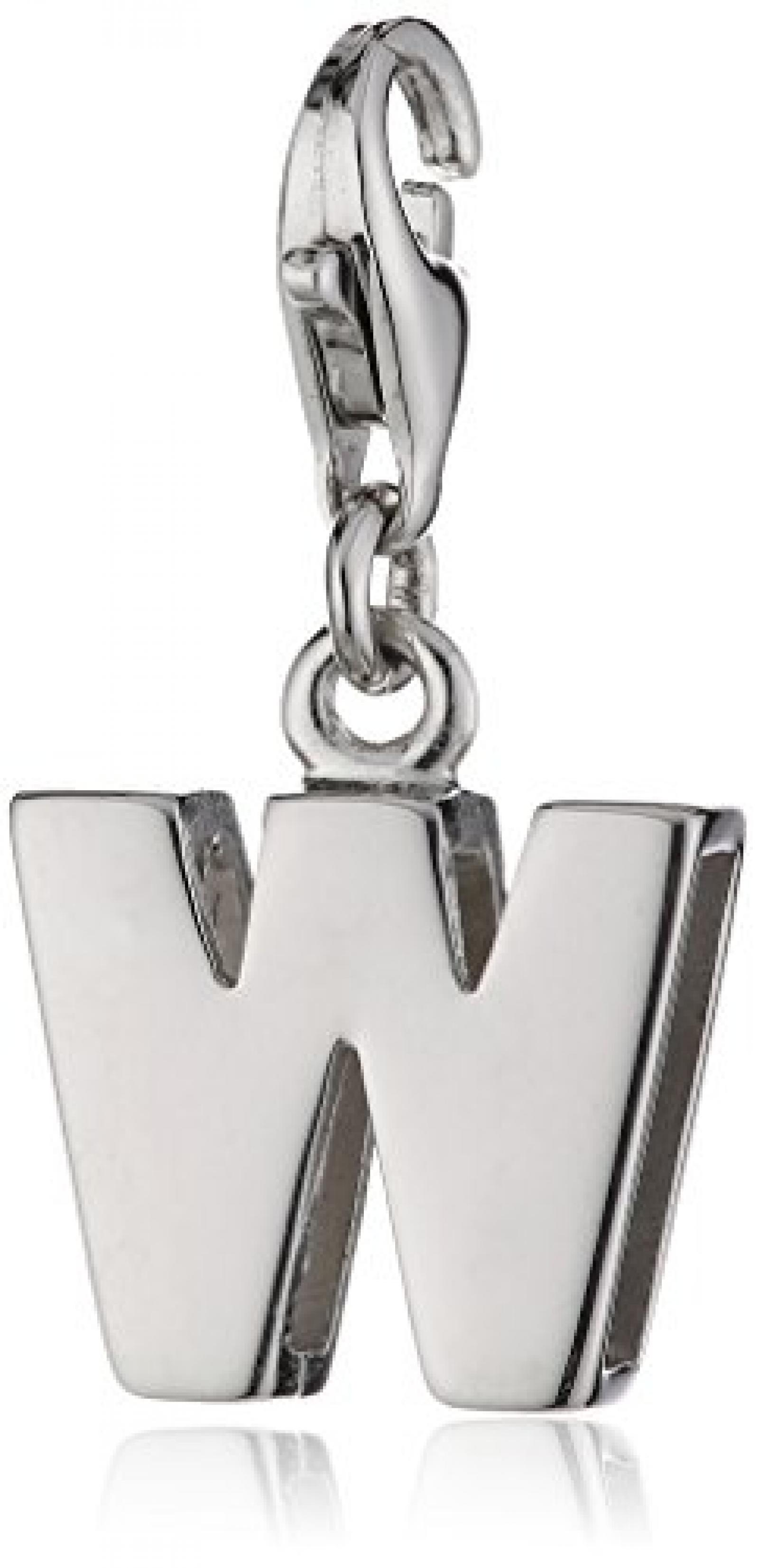 Amor Buchstabe W-Charm  925 Sterlingsilber 20 mm 274425