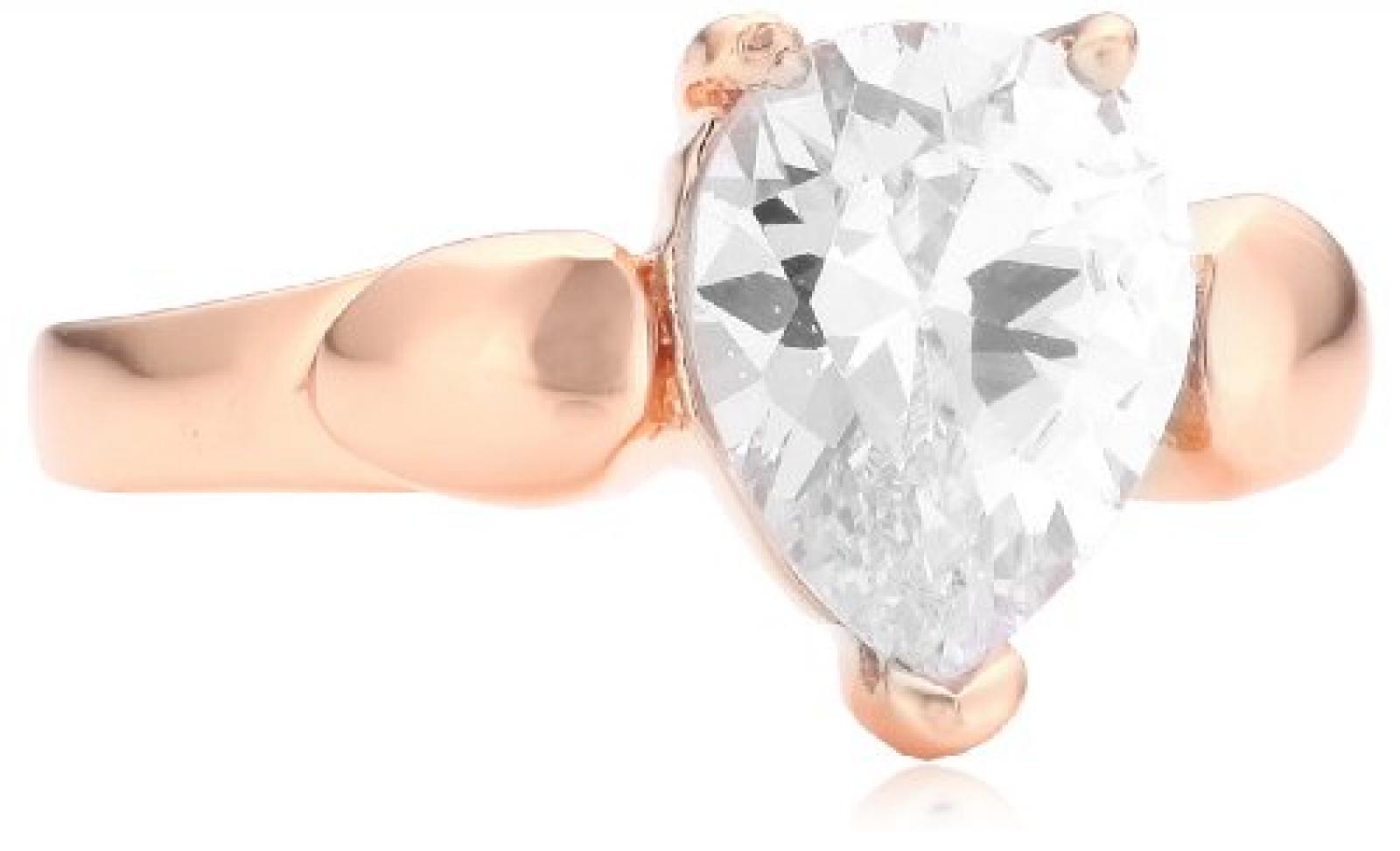 Mike Ellis New York Damen-Ring Edelstahl Zirkonia weiß Gr.52 (16.6) D1506A/6