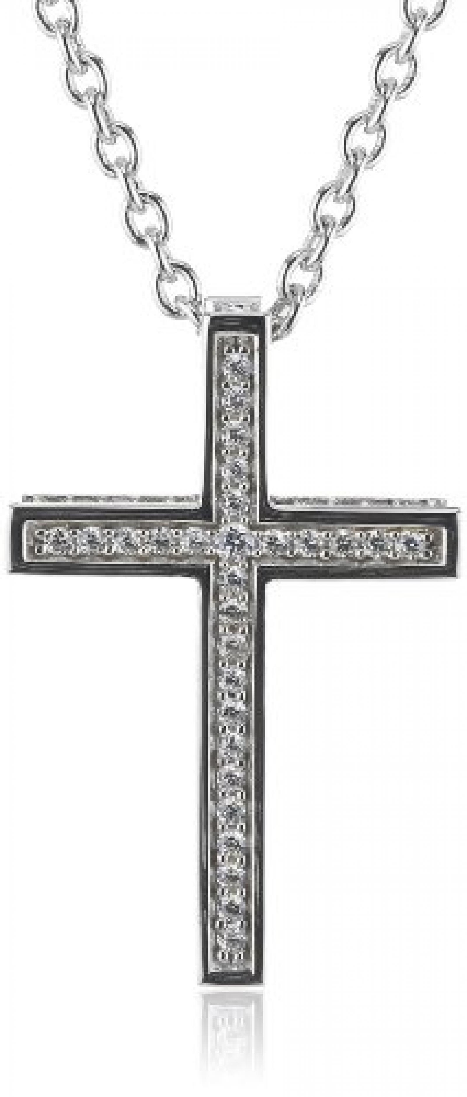 Joop Damen-Halskette mit Anhänger Zirkonia weiss 42+3 cm 925 Sterling Silber JPNL90627A420