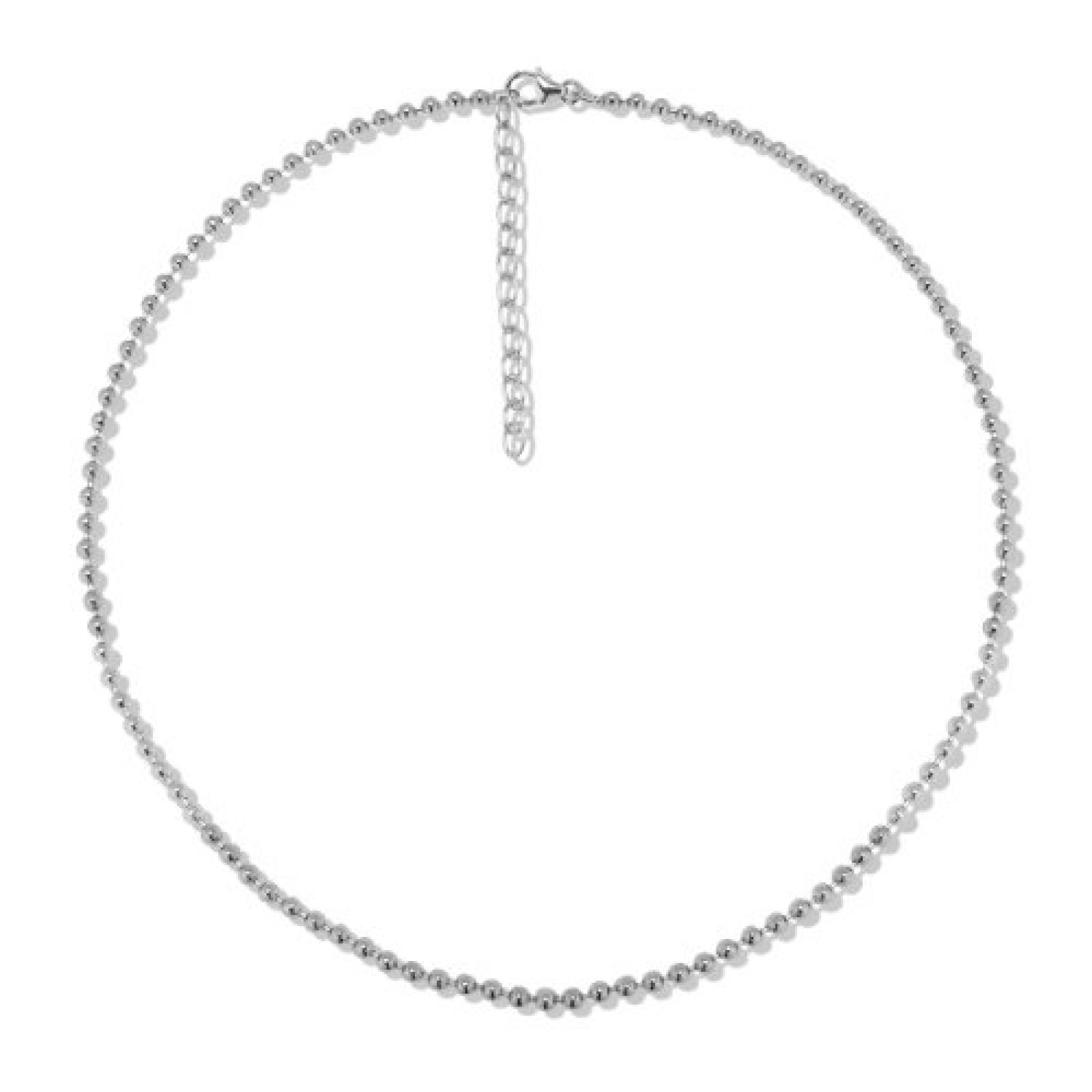 Rafaela Donata  Damen-Kugelkette Basic Collection 925 Sterling Silber 42 + 5 cm  60990086