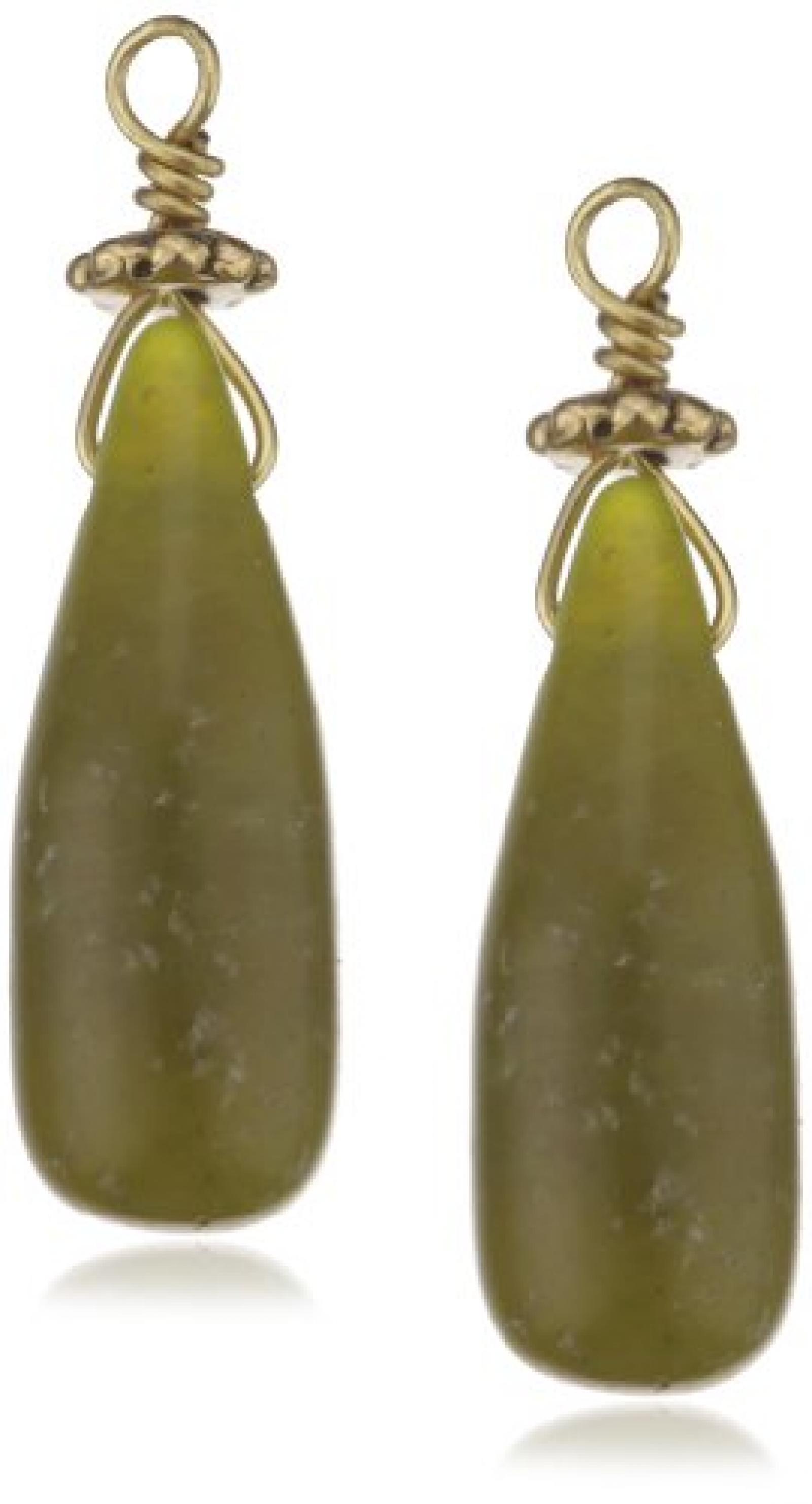 PILGRIM 511-025 Ohrring-Charms Anhänger, vergoldet, grün