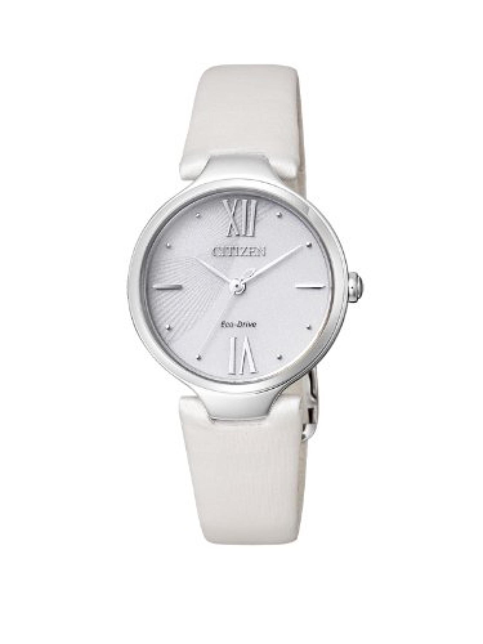 Citizen Damen-Armbanduhr XS Citizen L Analog Quarz Leder EM0040-12A
