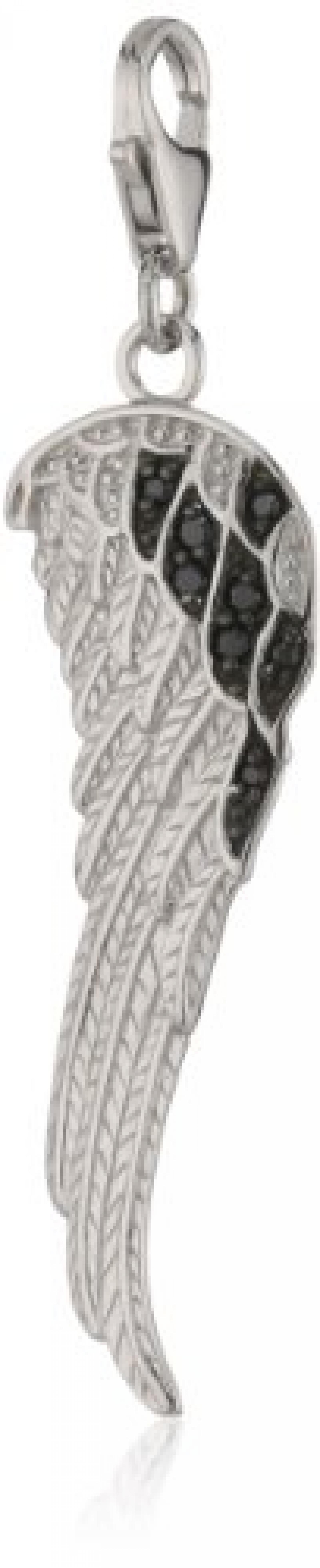Amor Jewelry Damen-Charm Flügel 925 Sterling Silber 342803