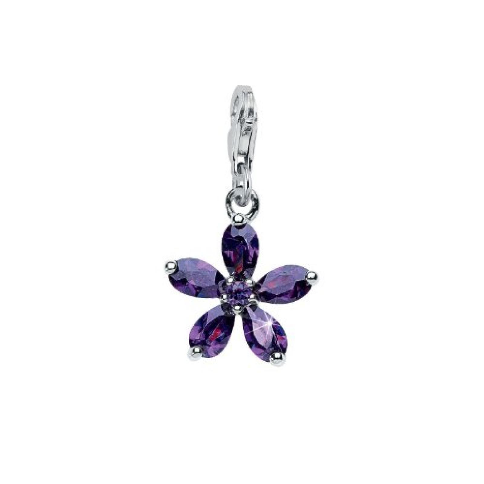 Amor Jewelry Damen-Charm Blüten 925 Sterling-Silber 384612