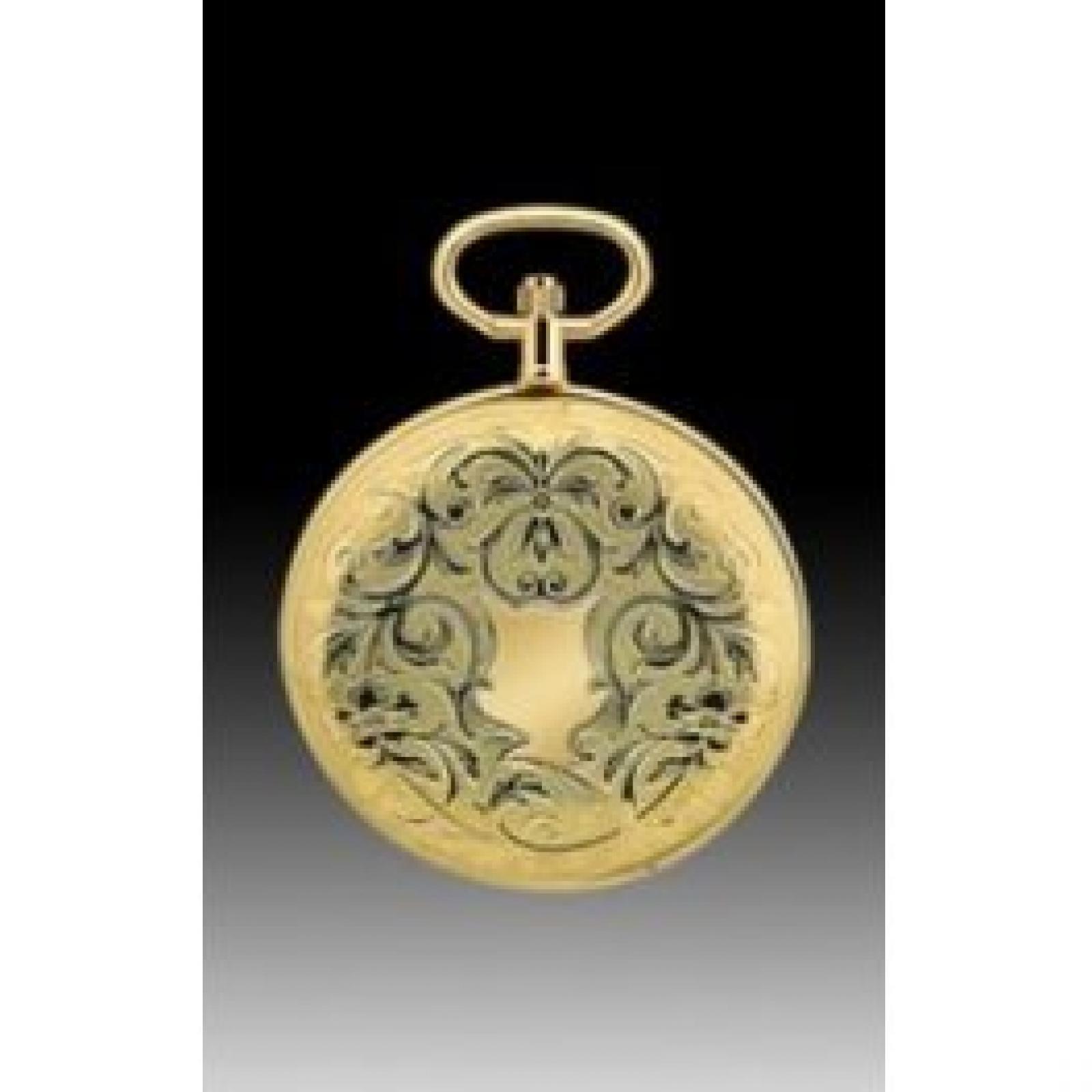 Lotus Taschenuhr 9017/S gelbgold plattiert