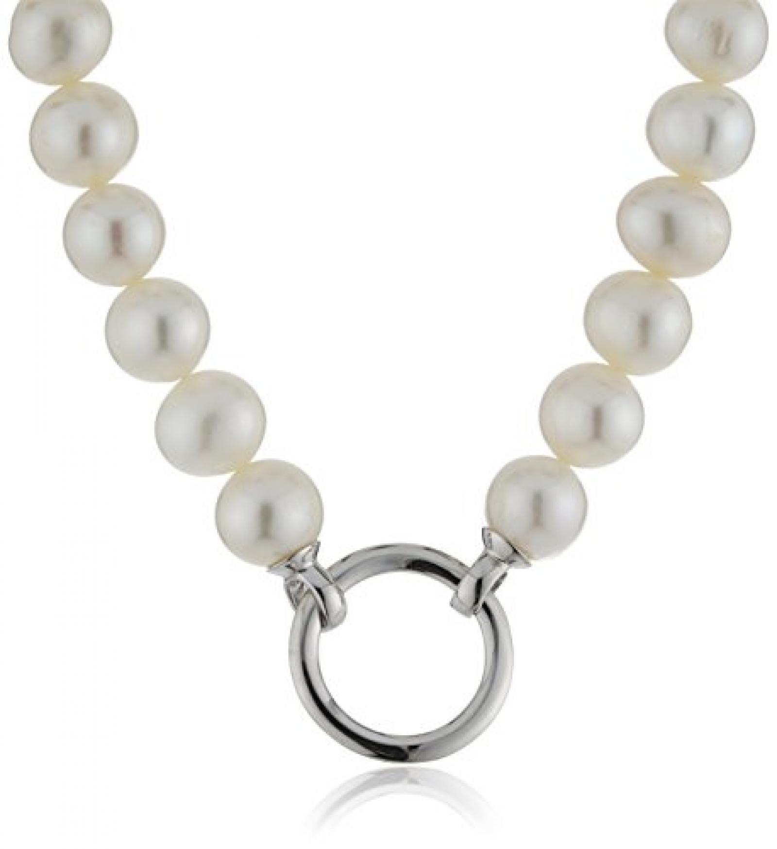 Celeste Damen-Collier 925/- Sterling Silber, 45cm, Süßwasserzuchtperlen weiß,360250136
