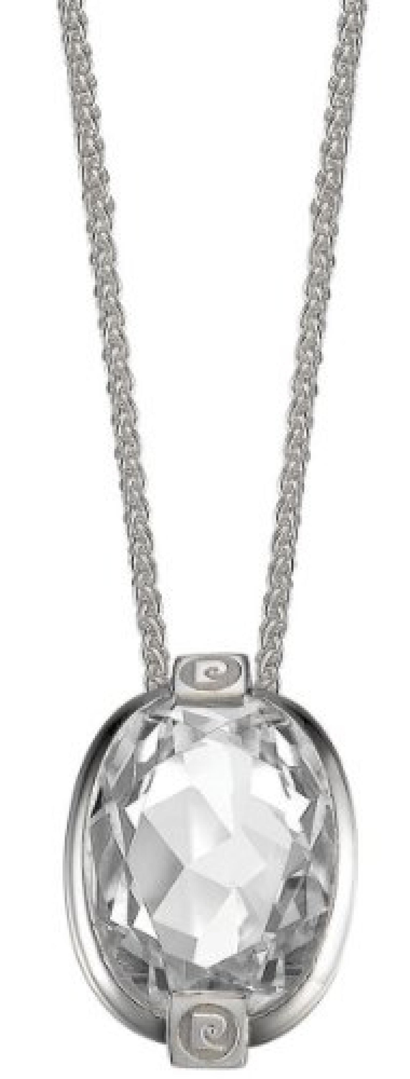 Pierre Cardin Damen Halskette 925 Sterling Silber rhodiniert Kristall Zirkonia Pierre précieuse 42 cm weiß PCNL90379A420