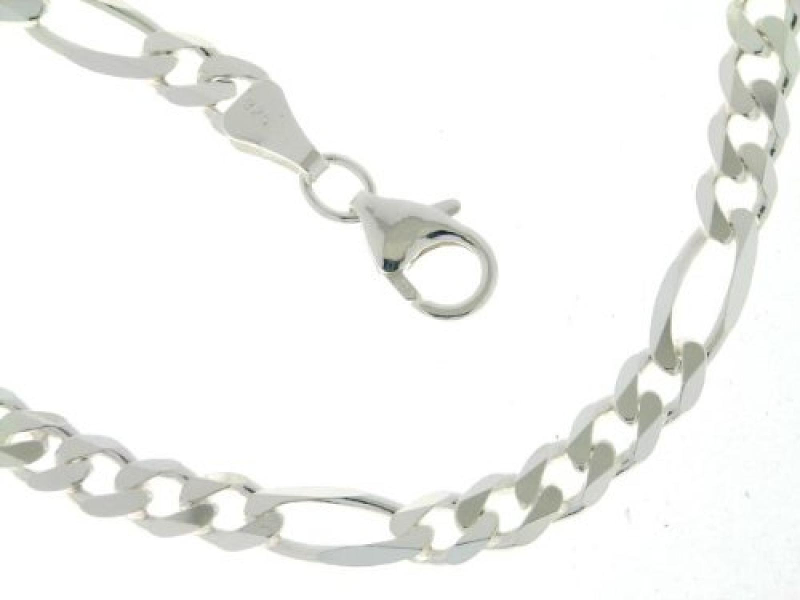 BOB C. Herren-Halskette ohne Anhänger Figaro 925 Sterling Silber 327040