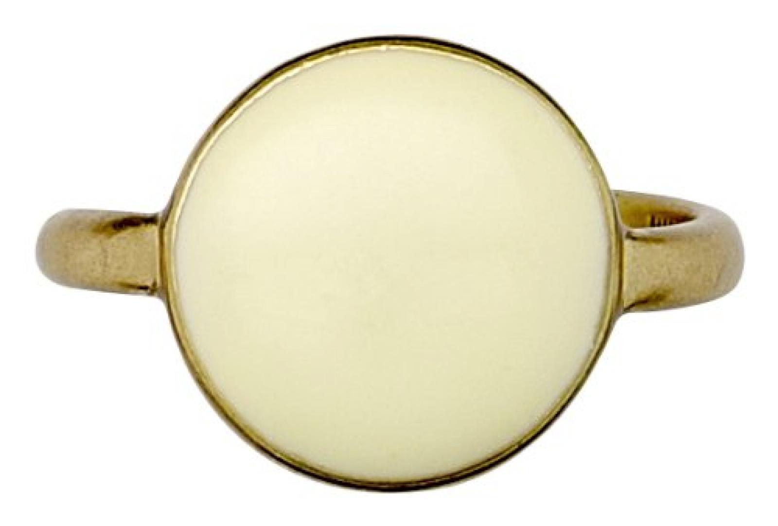 Pilgrim Jewelry Damen-Ring Messing aus der Serie Free Spirit vergoldet,gelb 1.5 cm Gr. 53 (16.9) 191322804