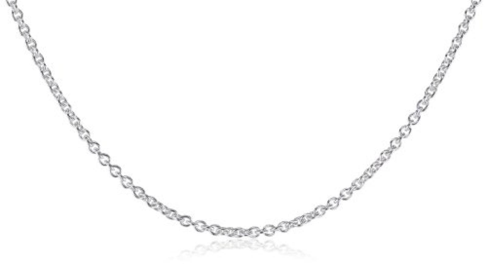 BOB C. Damen-Halskette ohne Anhänger Anker 925 Sterling Silber 326994
