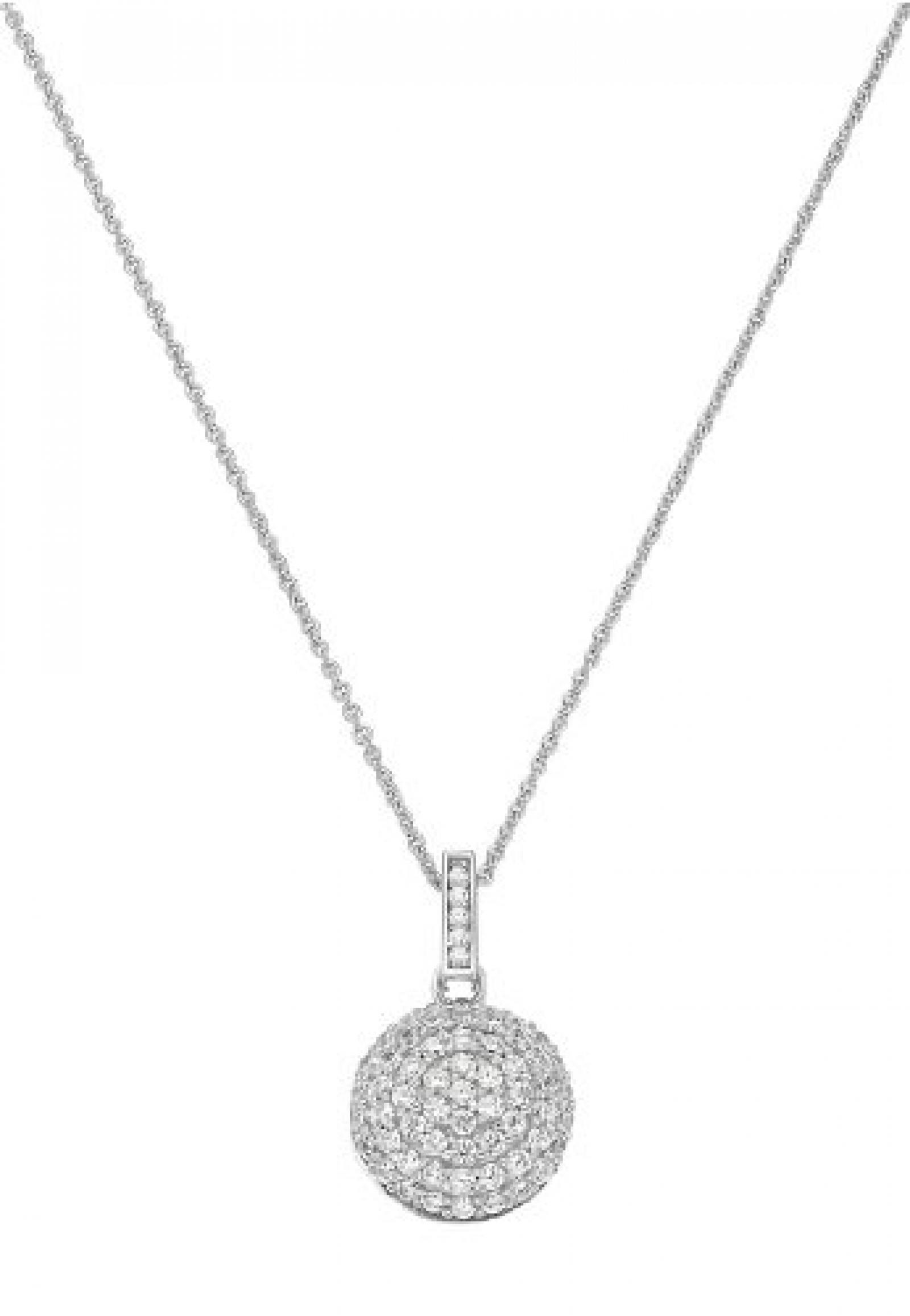 JETTE Silver Damen-Collier Precious Bowl 925er Silber rhodiniert 59 Zirkonia silber, One Size