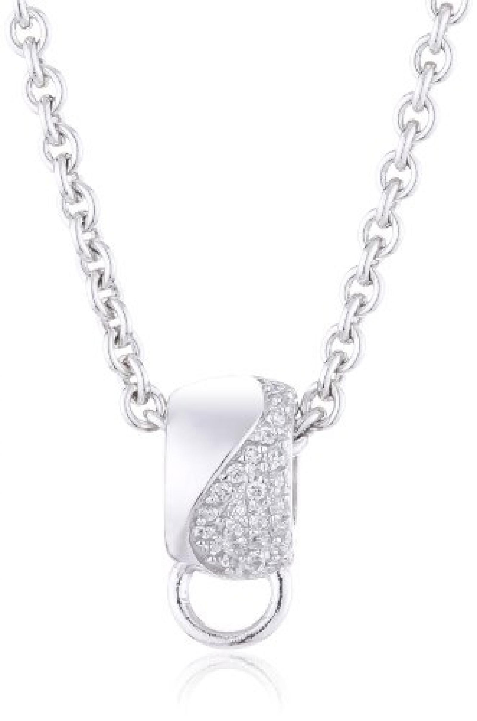 s.Oliver Jewels Damen-Halskette mit Charmträger Silber 925 SOCHB/32 420297