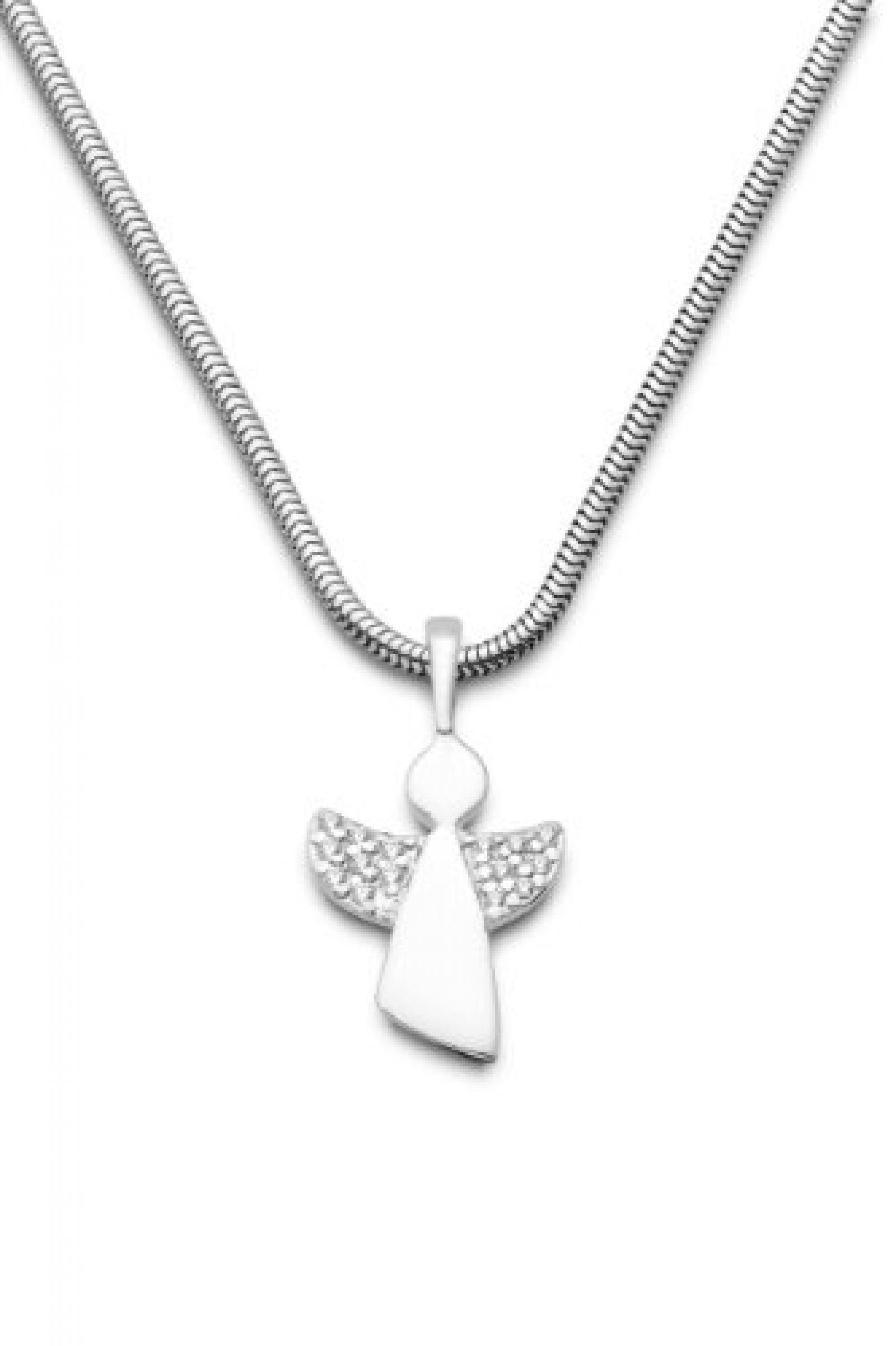 Miore Damen-Halskette 925 Sterling Silber mit Anhänger Schutzengel Zirkonia 45 cm MSM158N