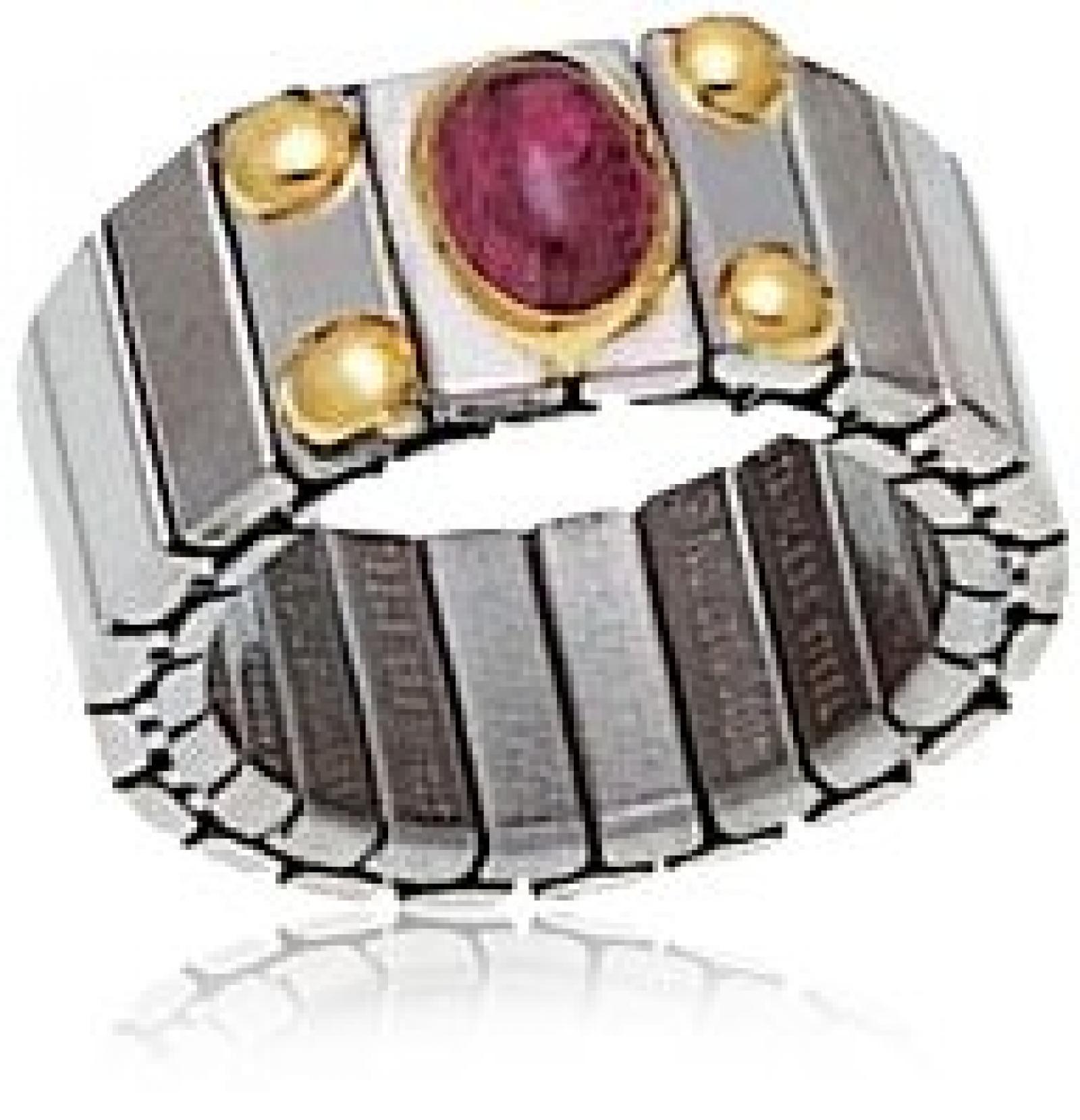 Nomination Damen-Ring Mittel Mit 1 Halb in Turmalin Rosa Ring größe variabel 040121/006