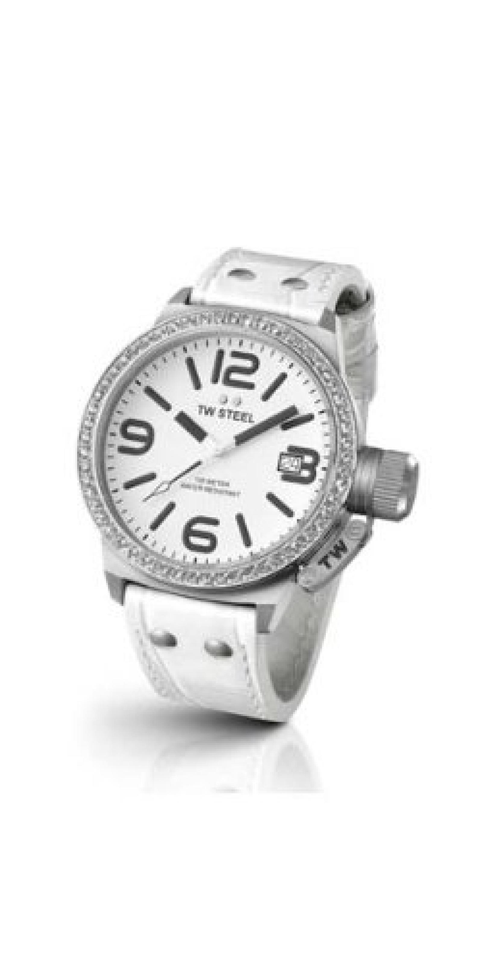 TW Steel Damen-Armbanduhr XL Canteen Style Analog Quarz Leder TW-35