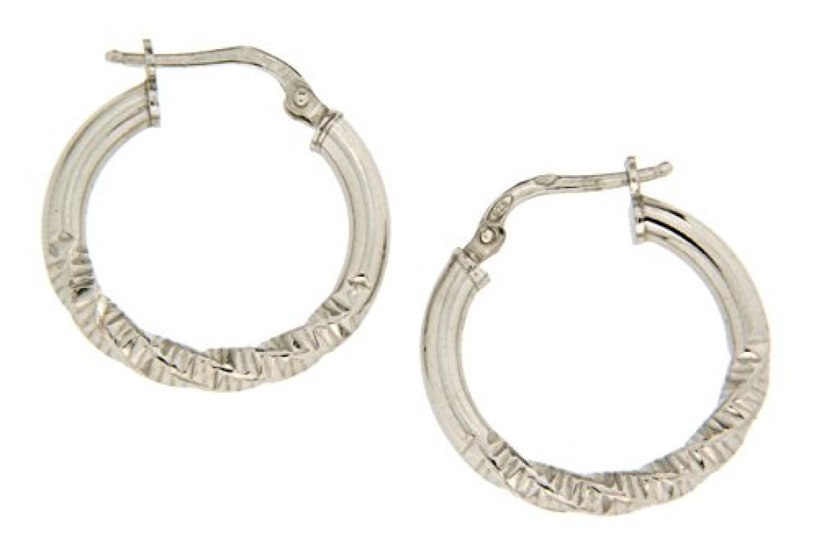 Kettenworld Damen-Creolen 925 Sterling Silber 321560