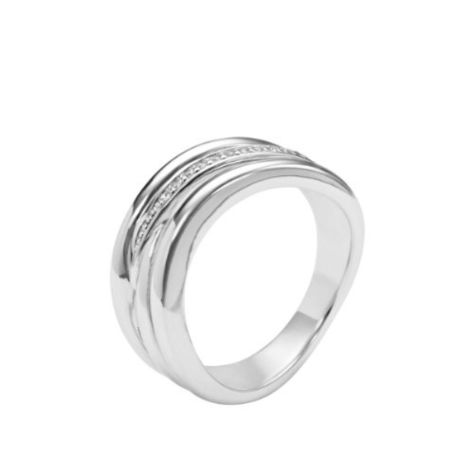 Fossil Damen-Ring 925 Sterling Silber Zirkonia weiß JFS00088040